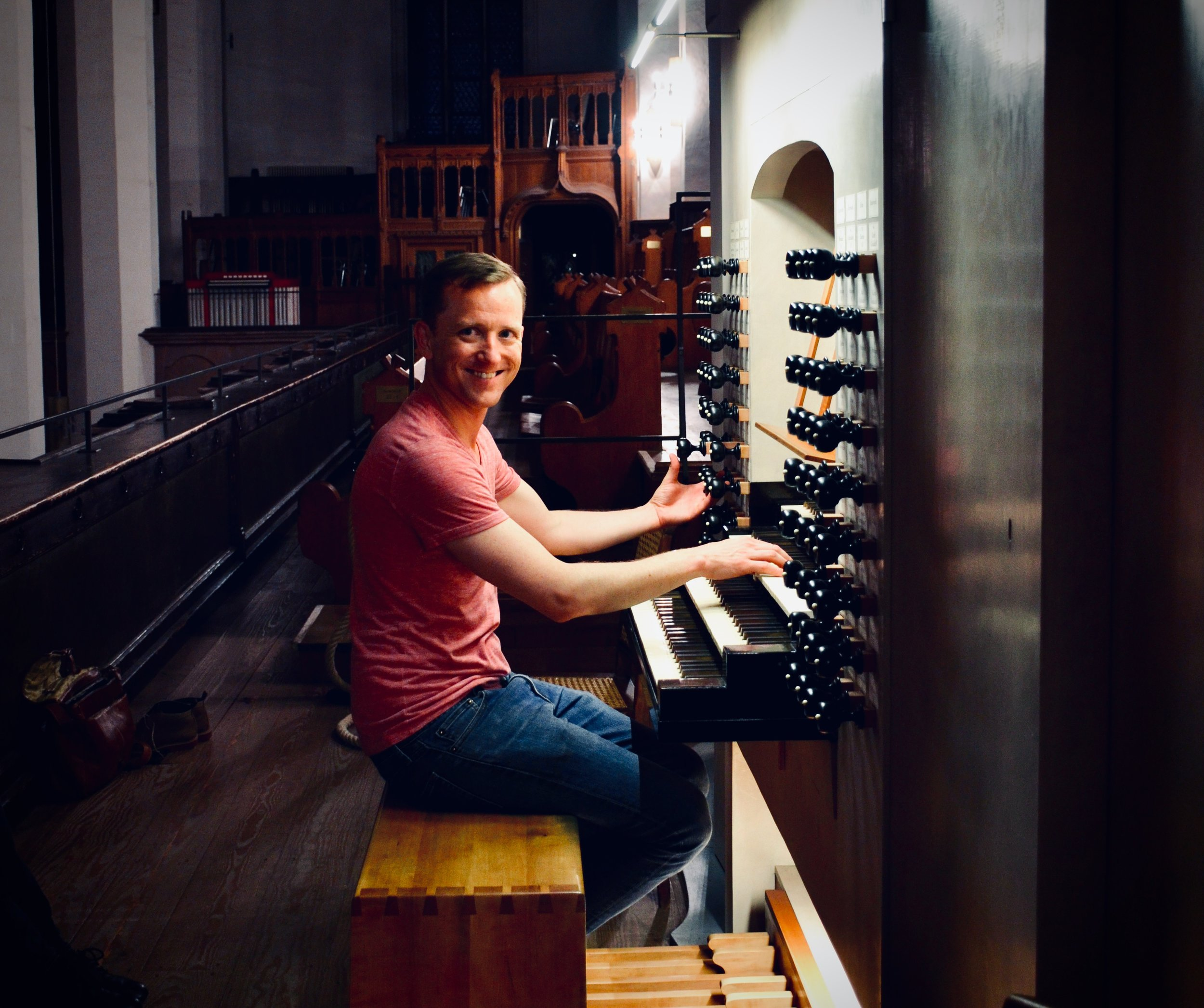 "Christian Lane plays the 2000 Woehl ""Bach Organ,"" Thomaskirche, Leipzig."
