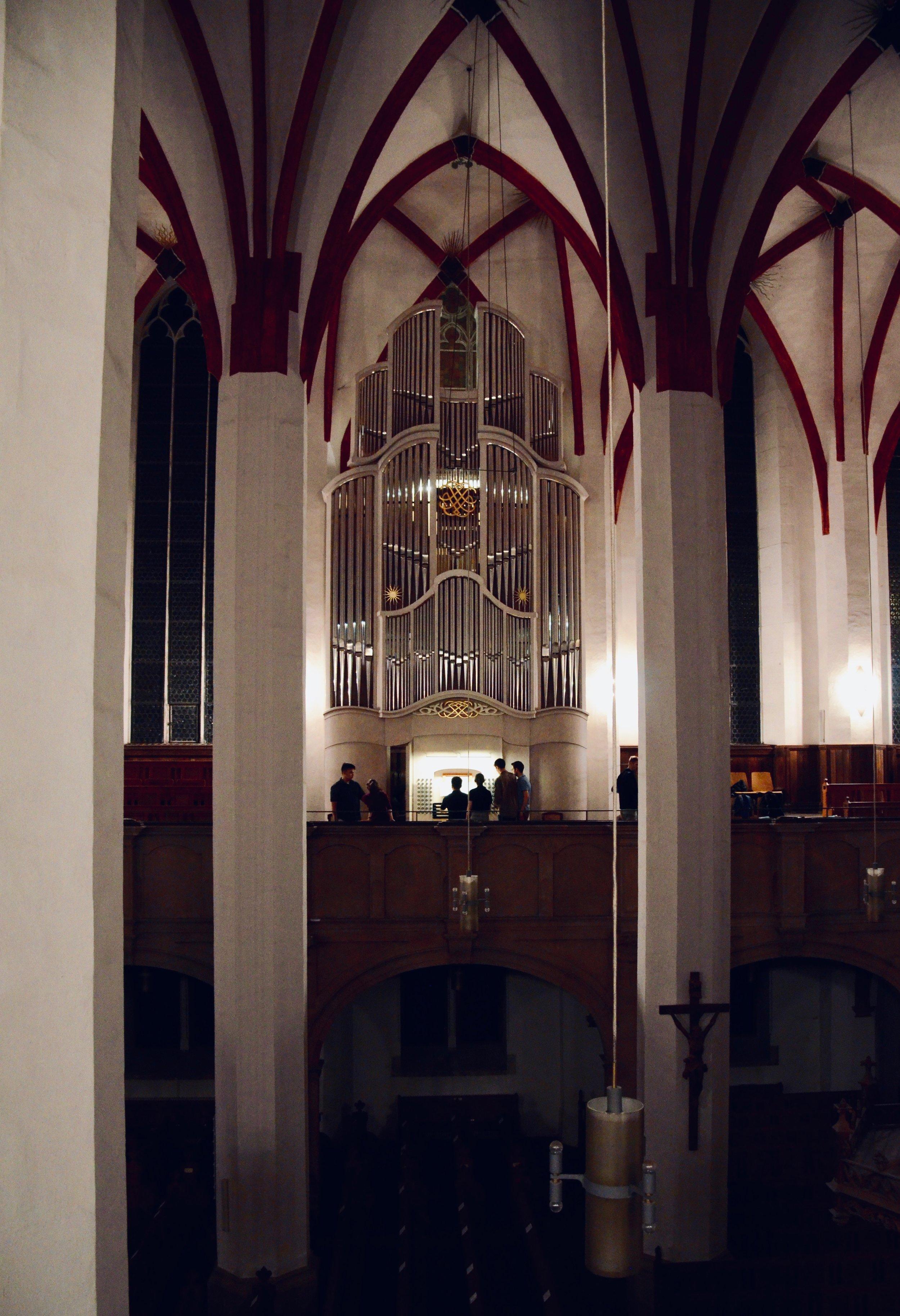 """2000 Woehl """"Bach Organ,"""" Thomaskirche, Leipzig."""