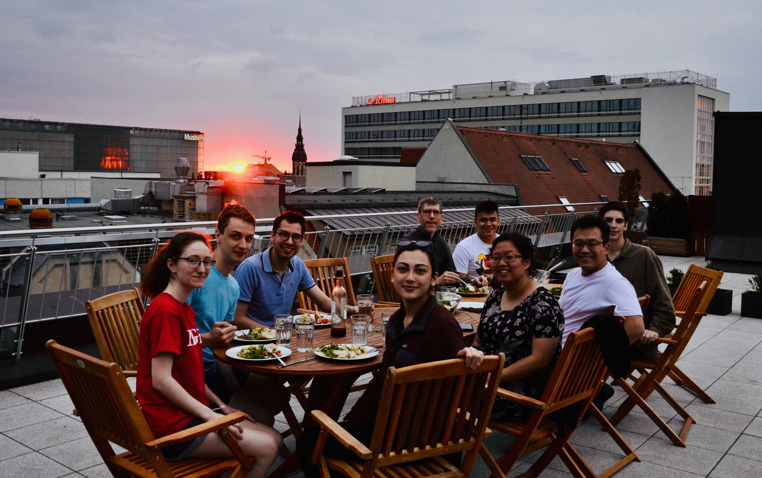 Dinner on the rooftop.
