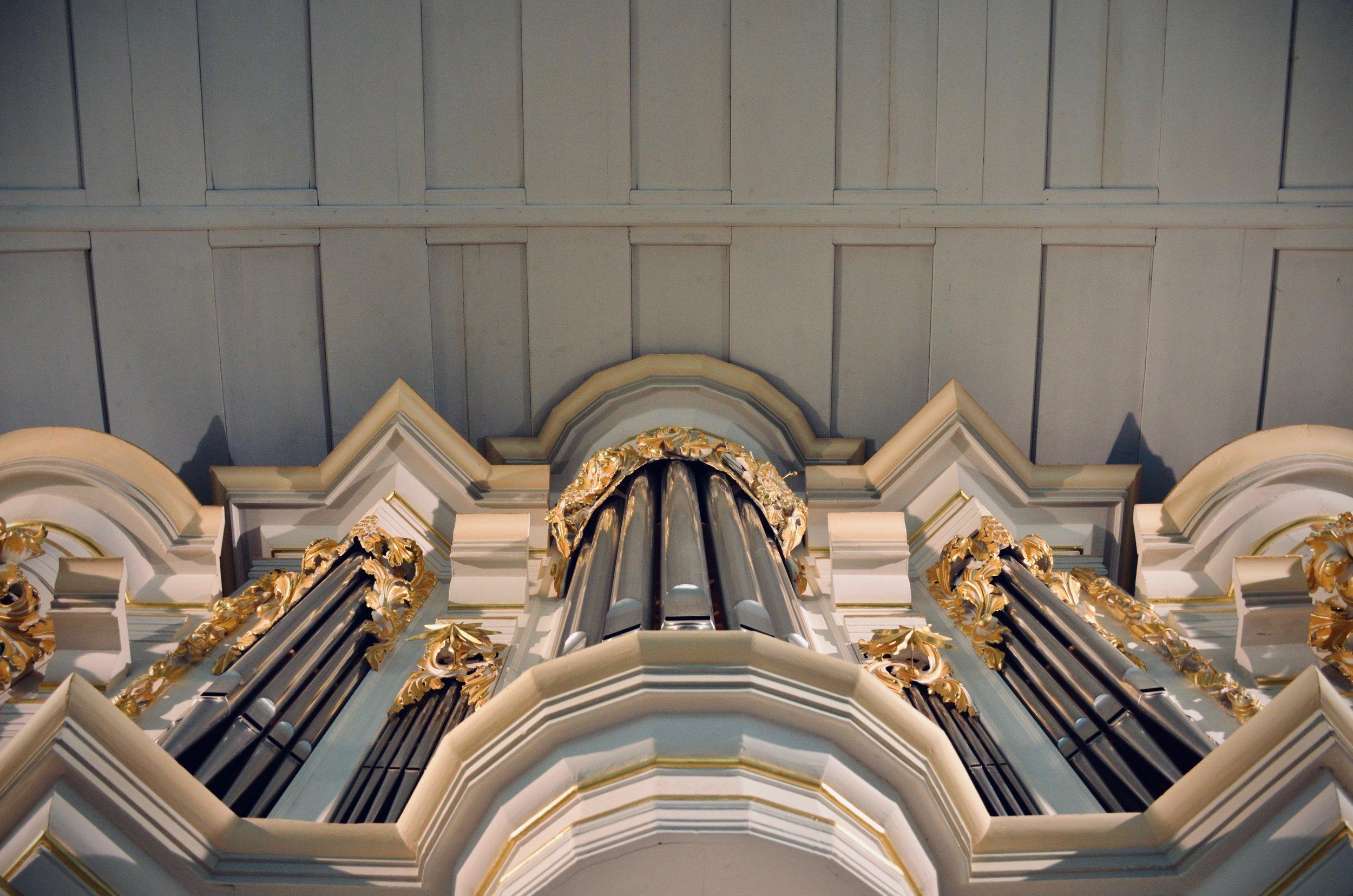Reconstructed Wender Organ (1703/2000) in Bachkirche, Arnstadt.