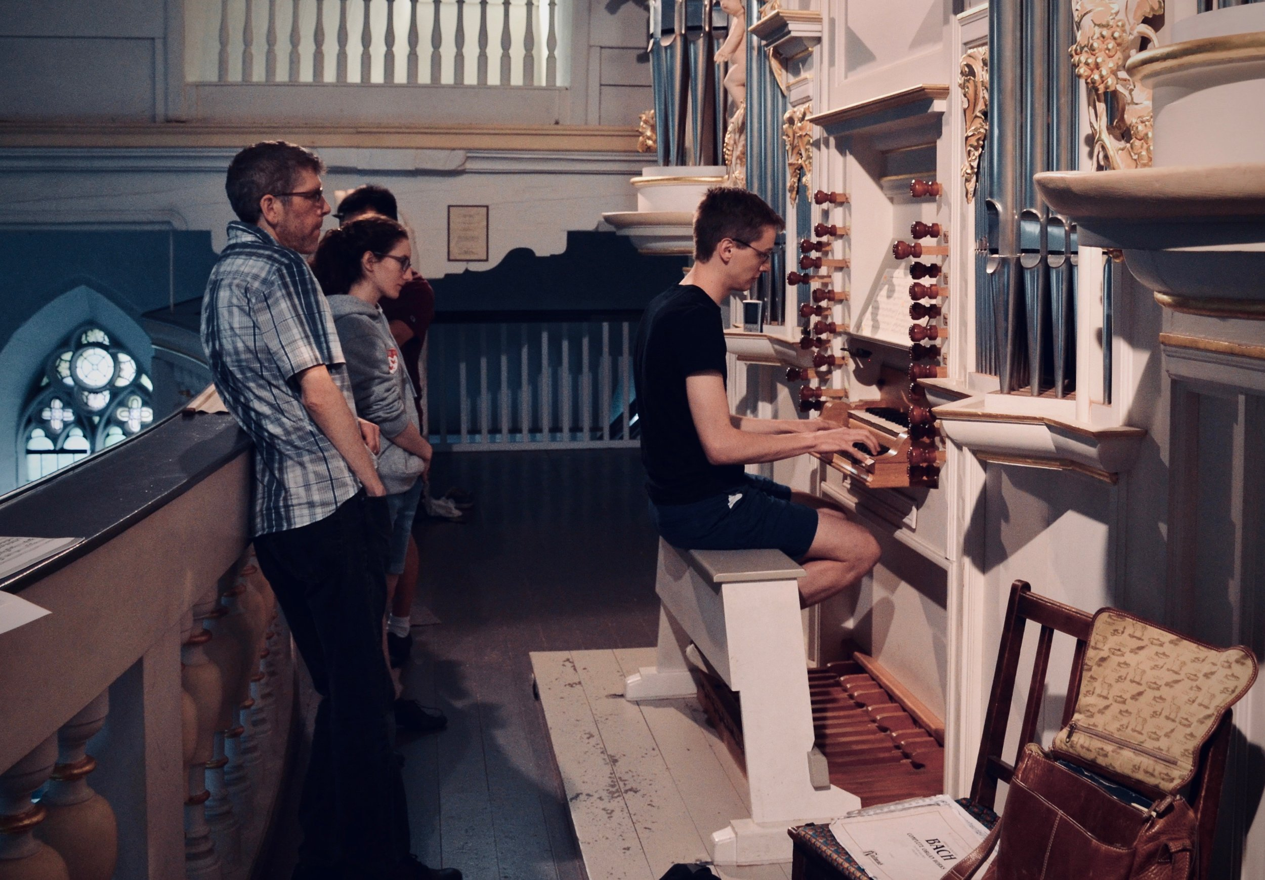 Alex Ross plays the reconstructed Wender Organ (1703/2000) in Bachkirche, Arnstadt.
