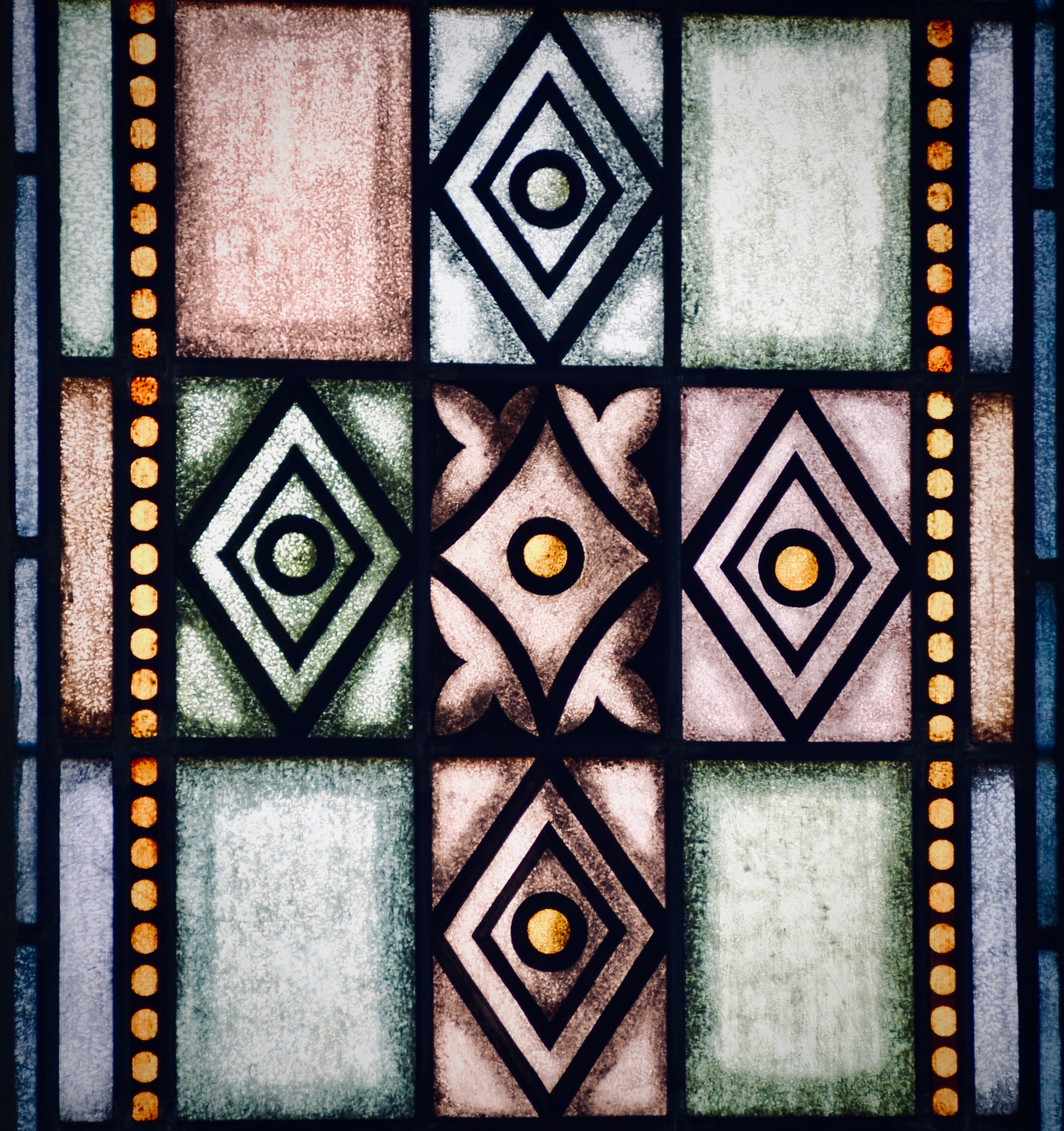 Stained glass detail, Bachkirche, Arnstadt.