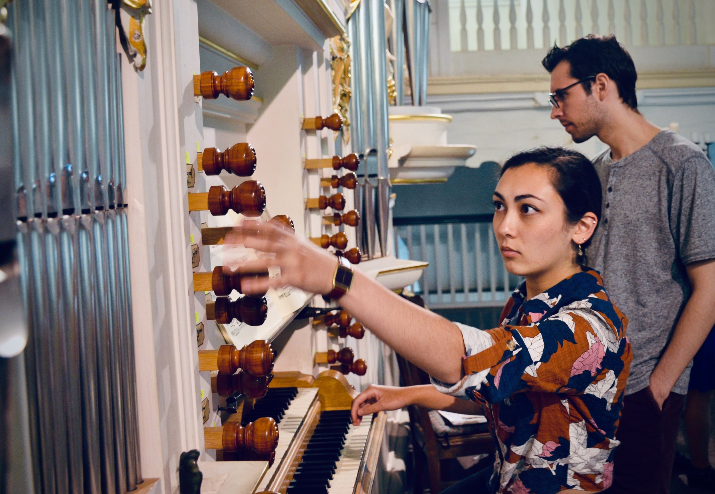 Meg Cutting plays the reconstructed Wender Organ (1703/2000) in Bachkirche, Arnstadt.