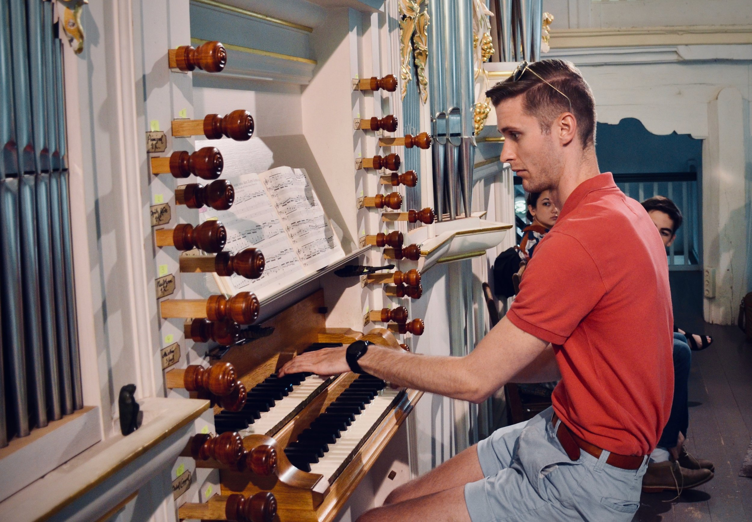 Evan Currie plays the reconstructed Wender Organ (1703/2000) in Bachkirche, Arnstadt.