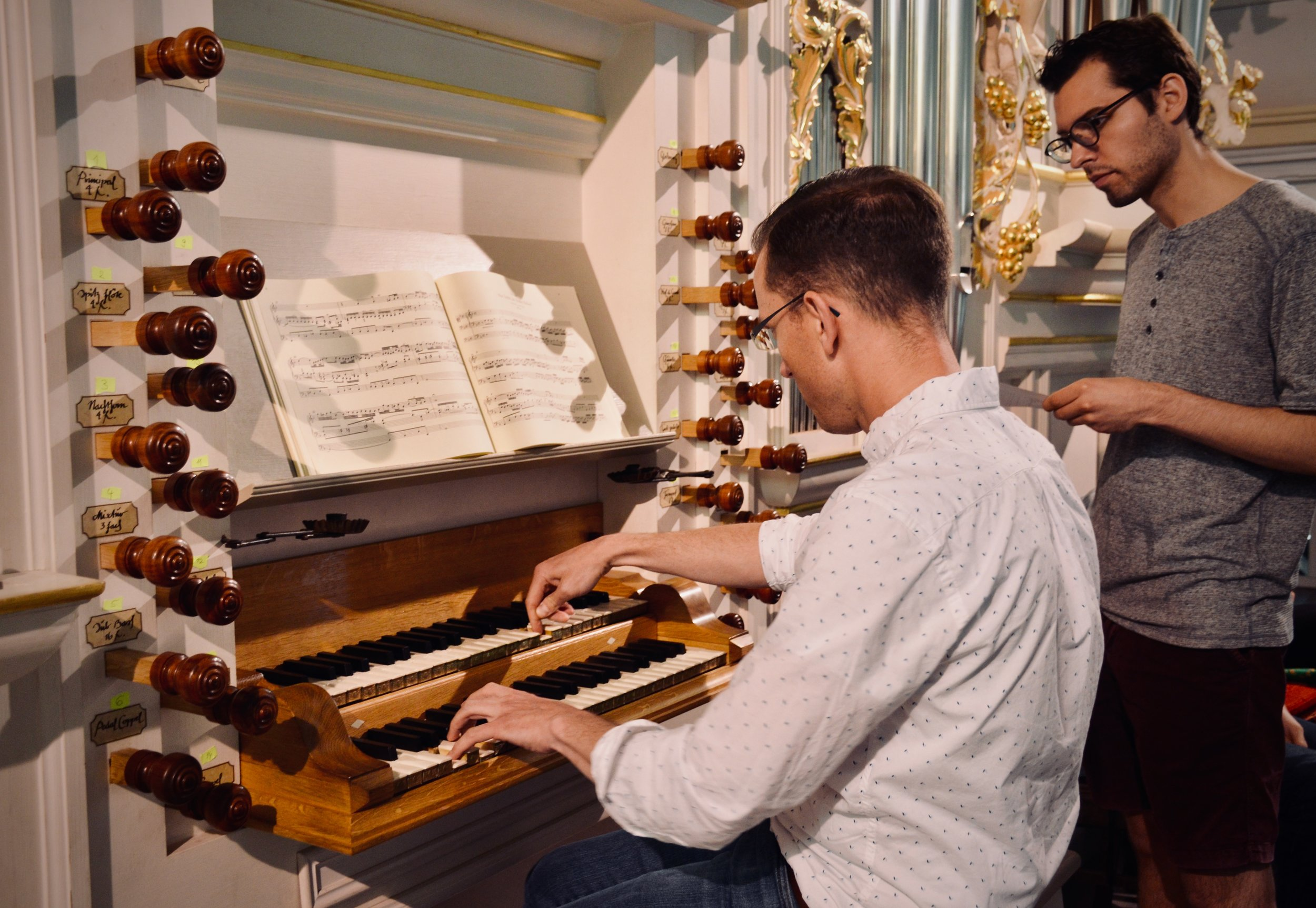 Christian Lane plays the reconstructed Wender Organ (1703/2000) in Bachkirche, Arnstadt.
