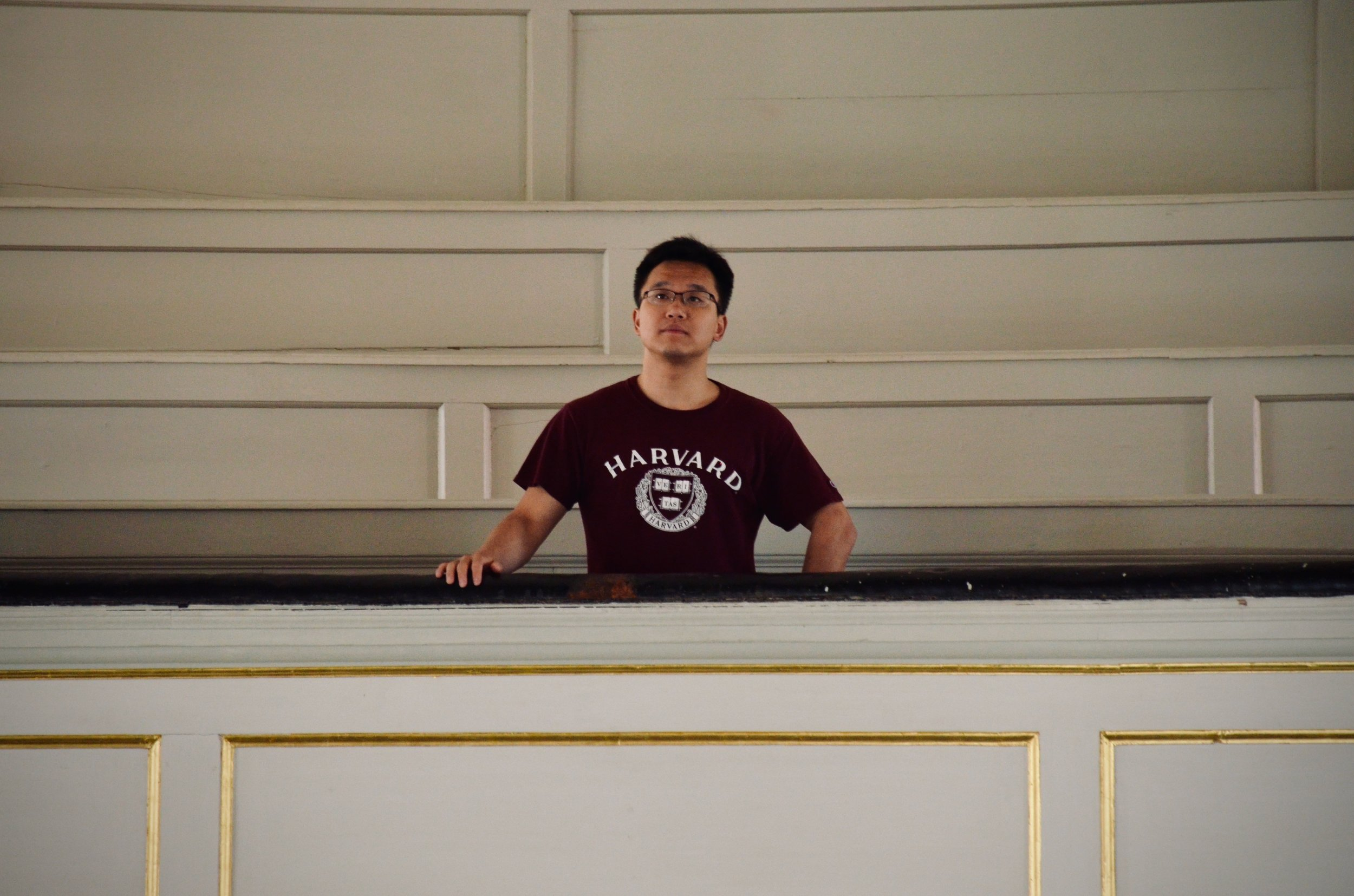 Adrian Cho listens to the 1730 Trost Organ, Stadtkirche, Waltershausen.