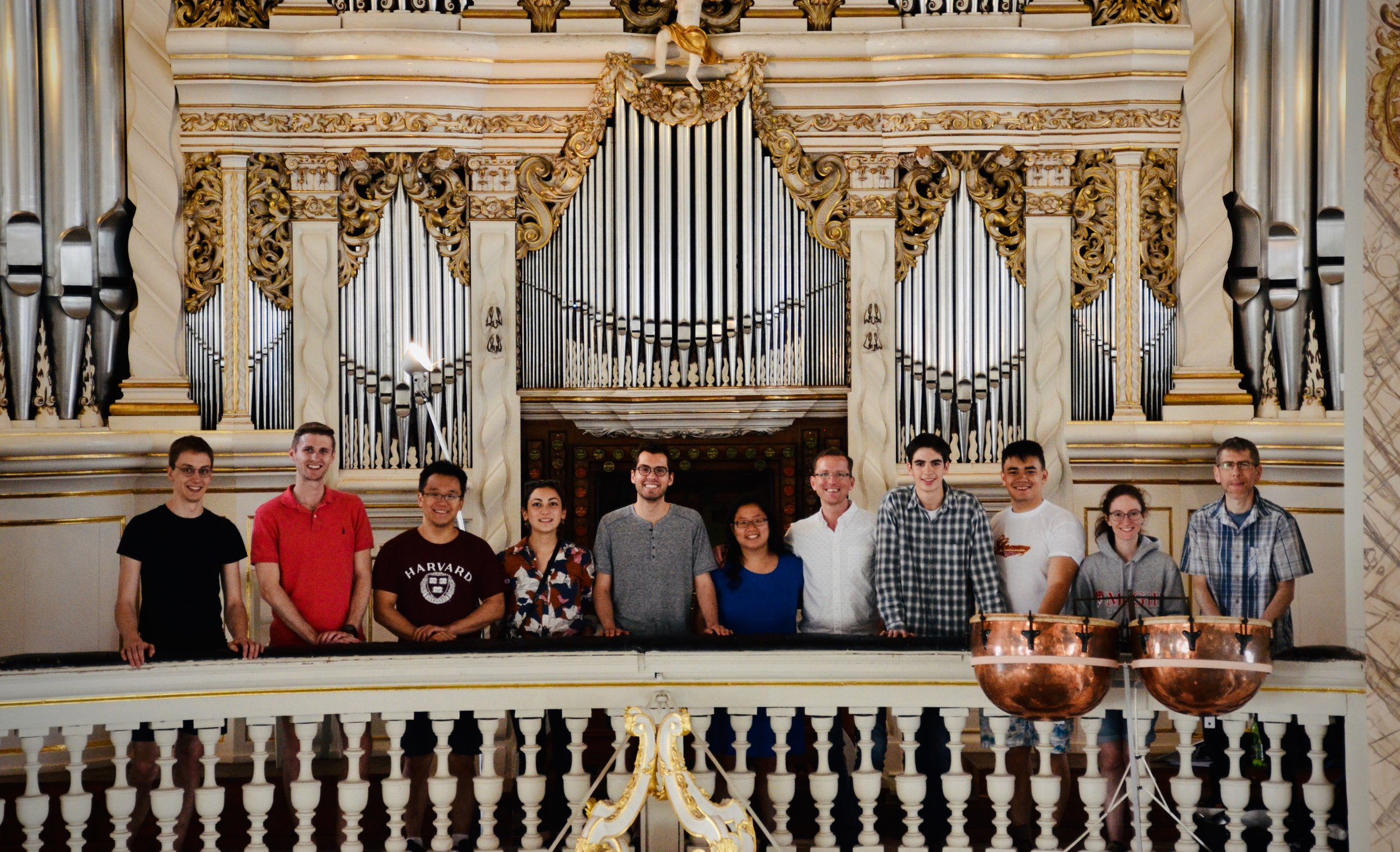 Members of Boston Organ Studio visit the 1730 Trost Organ, Stadtkirche, Waltershausen.