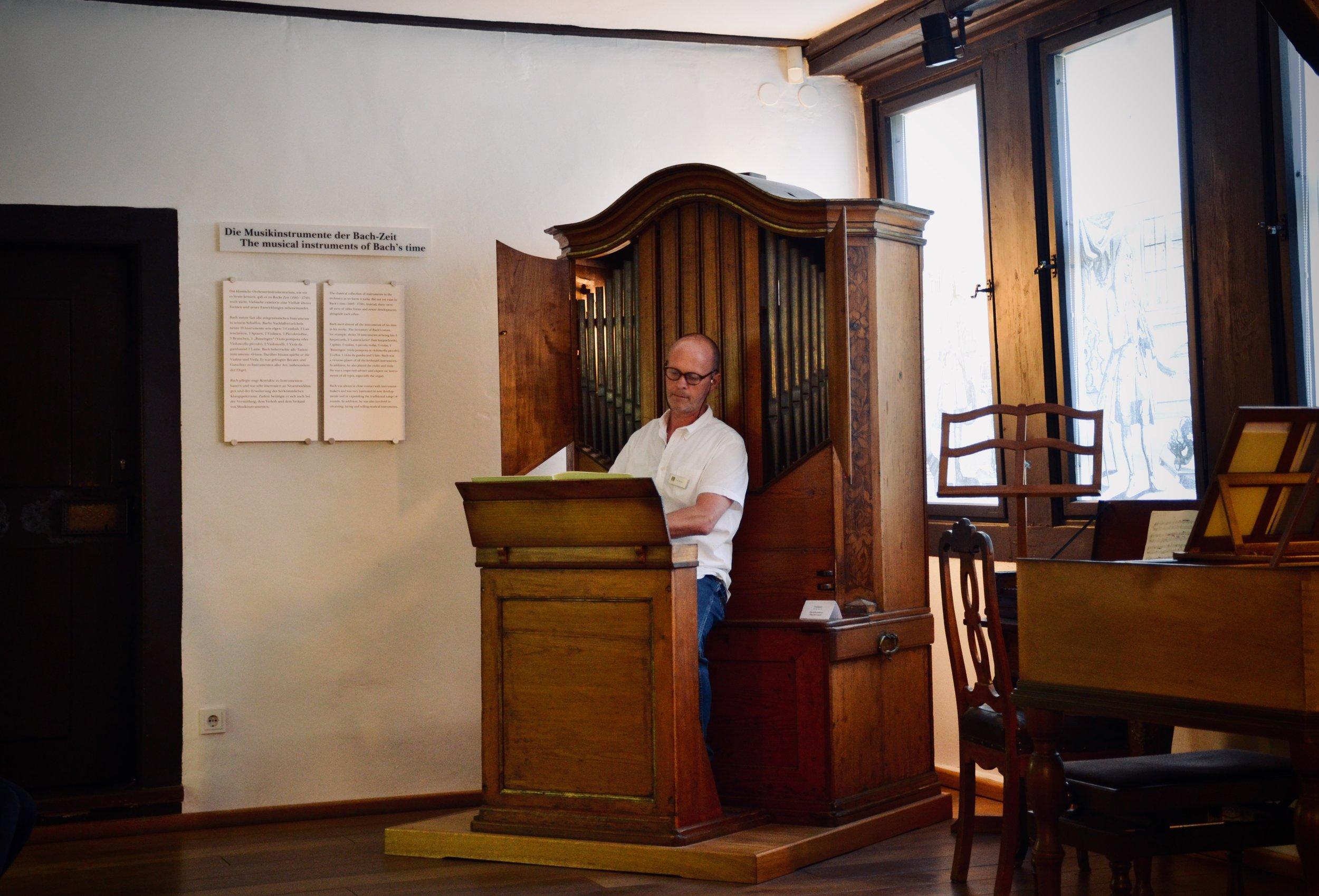 Curator Uwe Fischer of the Bachhaus Museum, Eisenach.