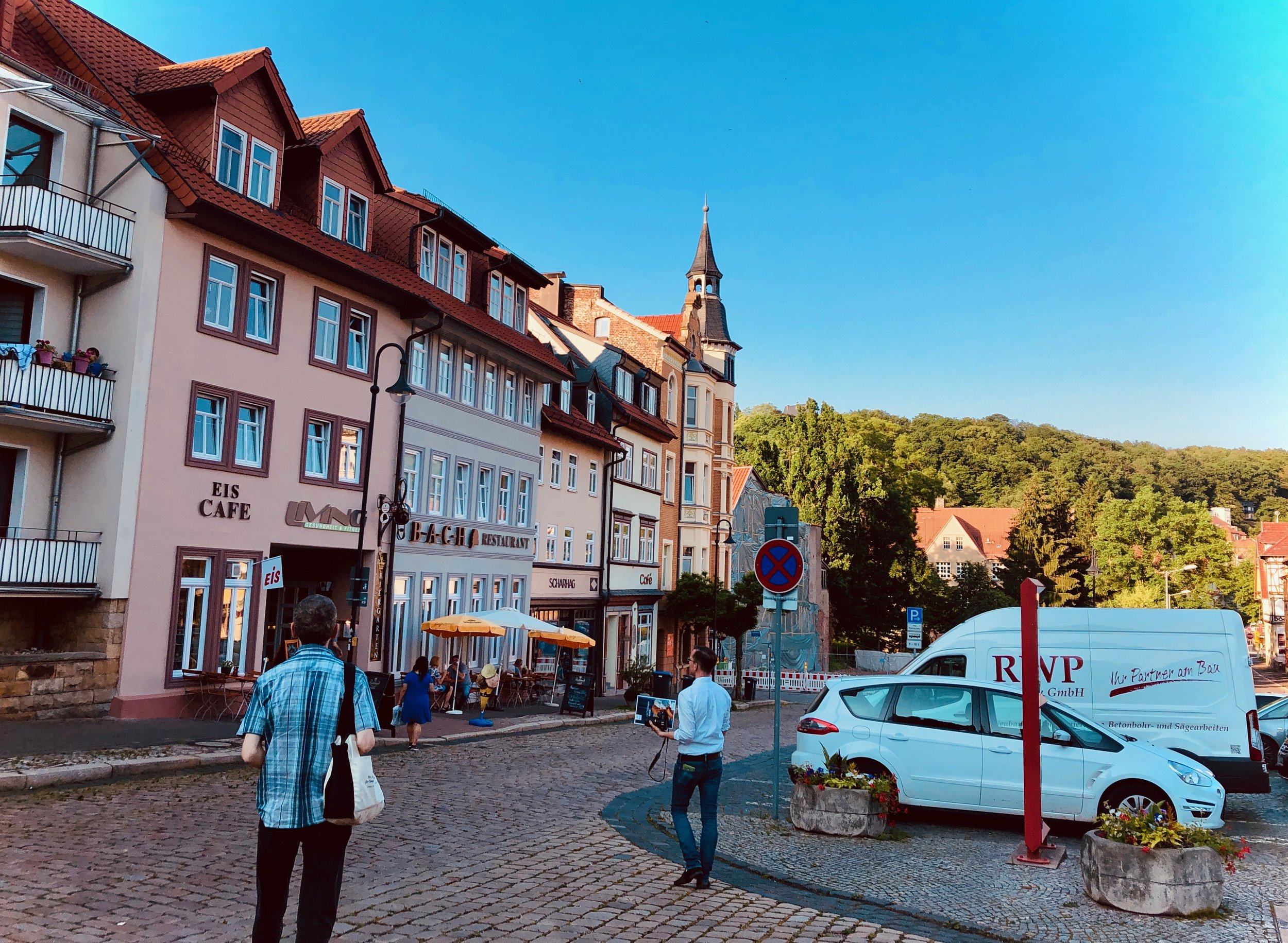 Leaving Eisenach after a fulfilling day in Thuringia.