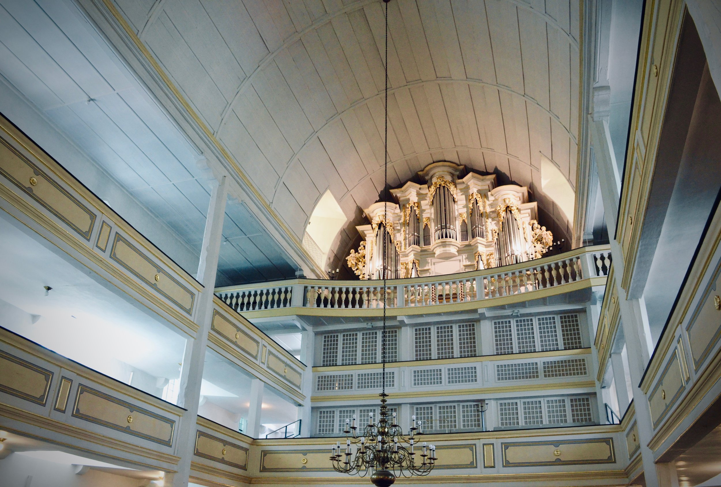 The reconstructed Wender Organ (1703/2000) in Bachkirche, Arnstadt.