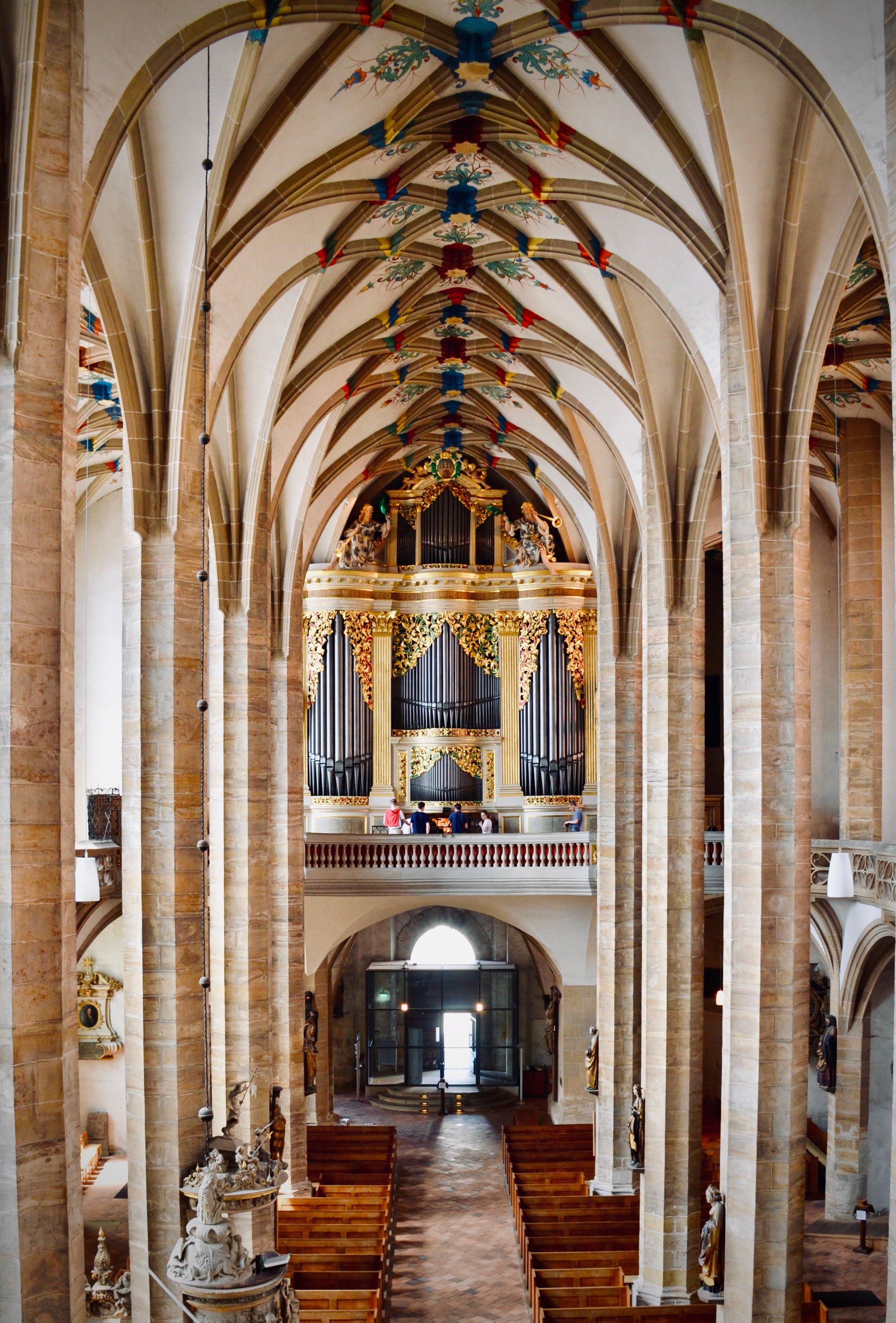 1714 Gottfried Silbermann organ in Freiberg Dom.