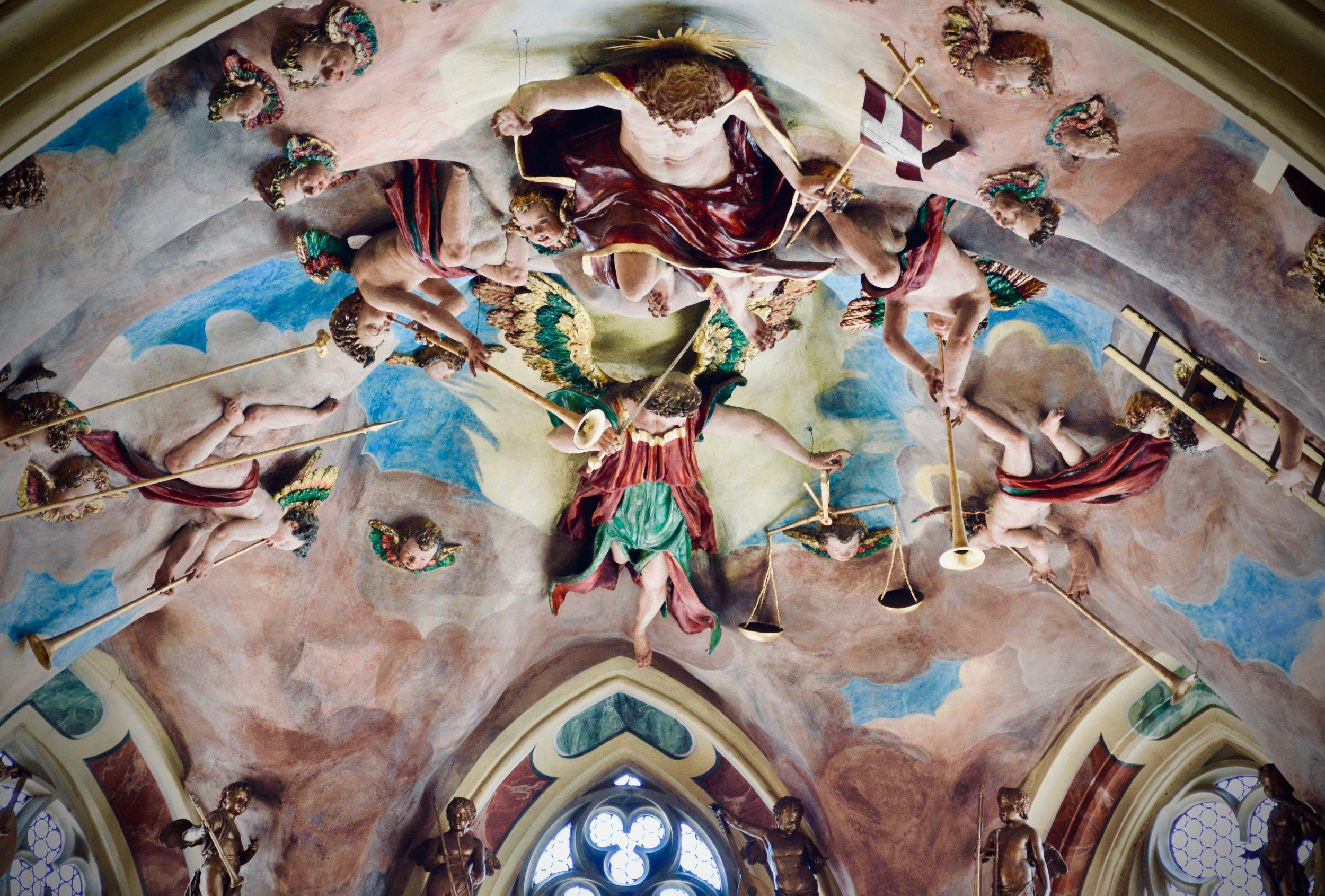 Ceiling detail, Freiberg Dom.