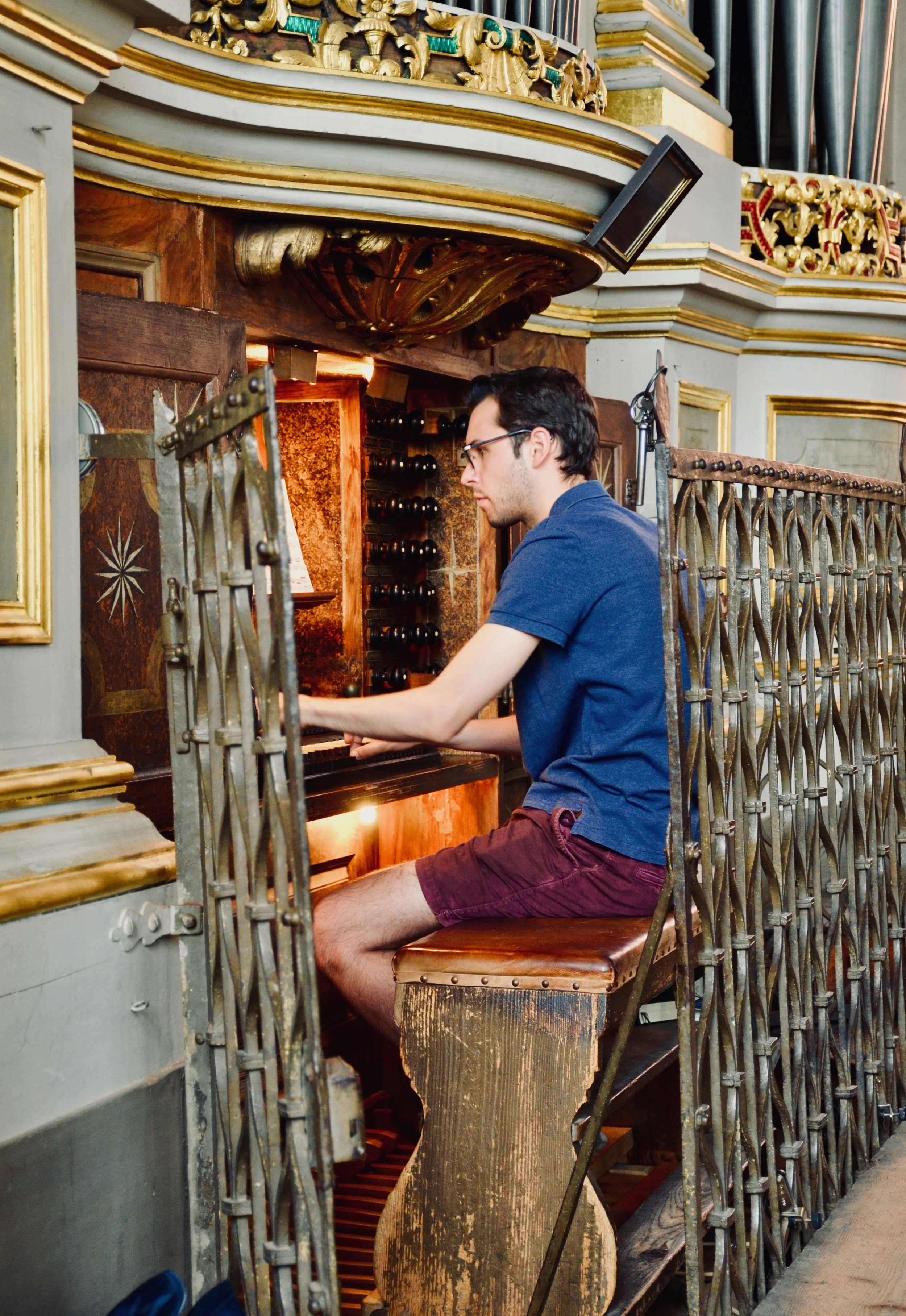 Nick Capozzoli plays the 1714 Gottfried Silbermann organ in Freiberg Dom.
