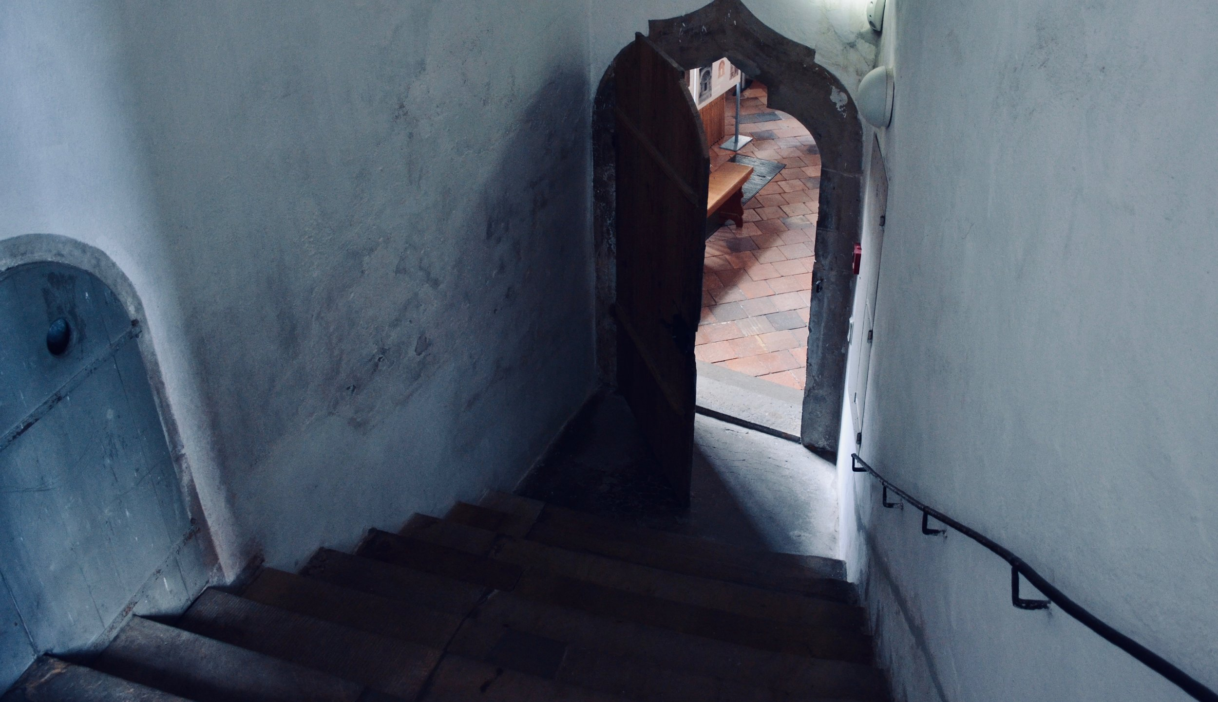 The stairwell to the organ loft in Freiberg Dom.