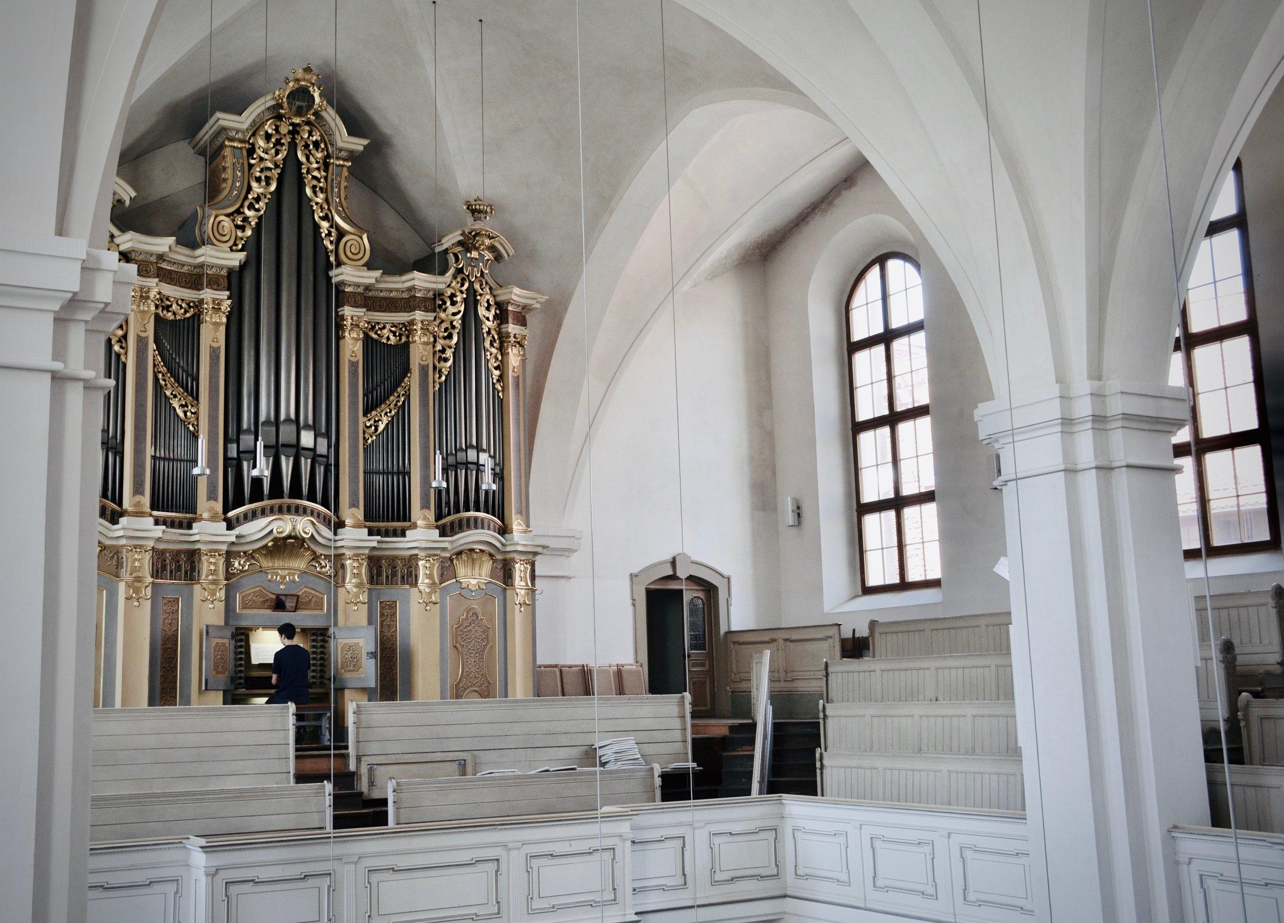 1735 Gottfried Silbermann organ, St. Petrikirche, Freiberg.