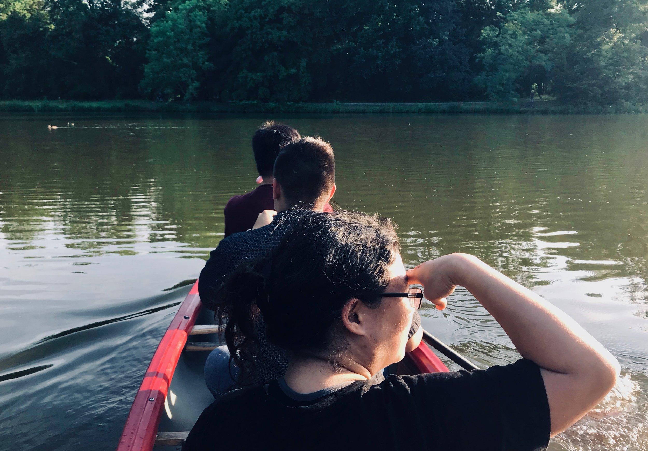 Canoeing in Leipzig.