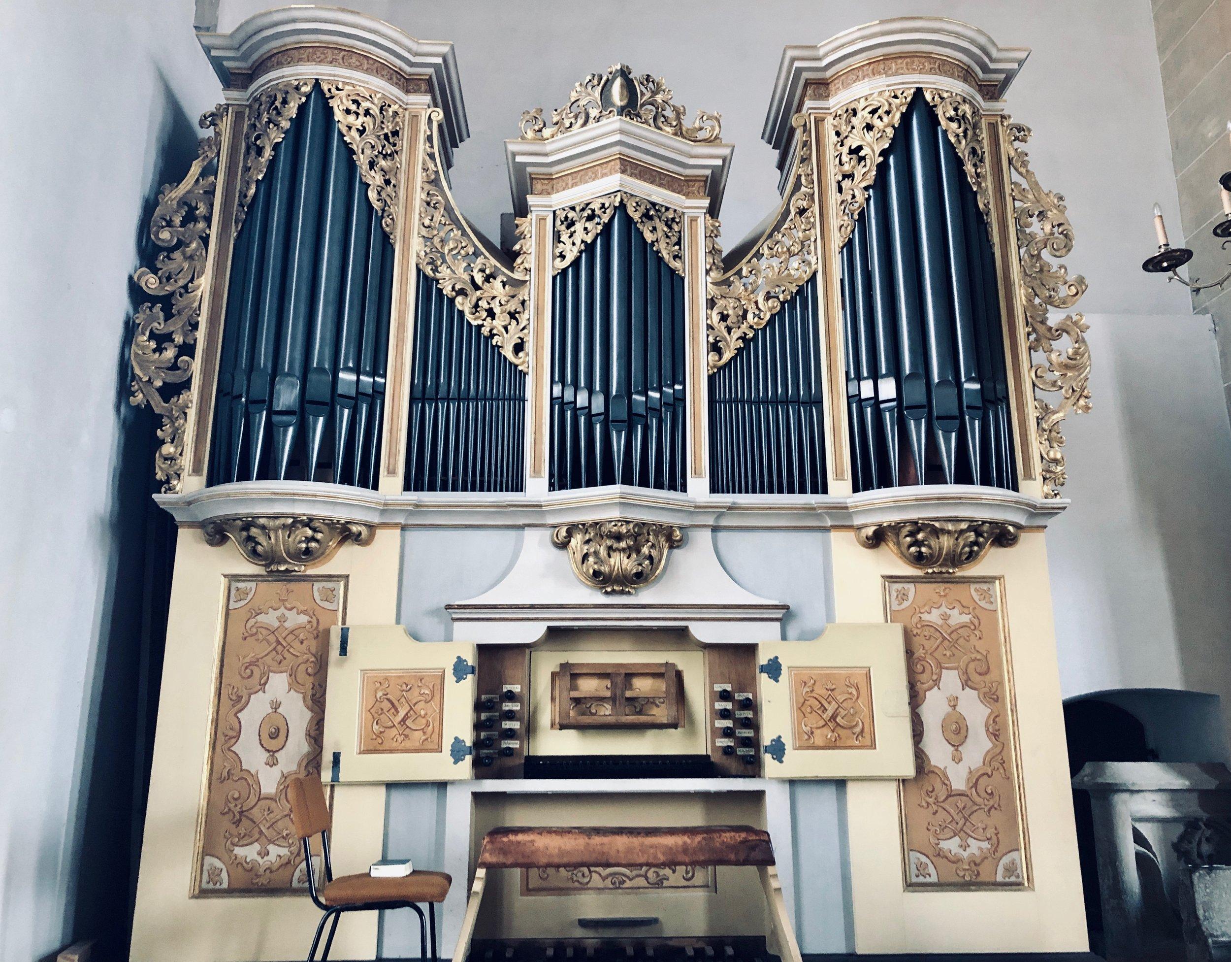 The 1718/19 Gottfried Silbermann organ in Freiberg Dom.