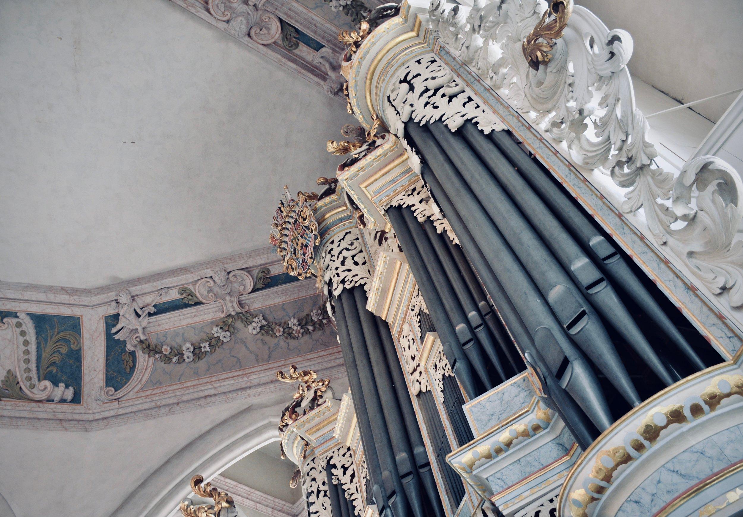 Facade detail, 1746 Hildebrandt Organ, Stadtkirche St. Wenzel, Naumburg.