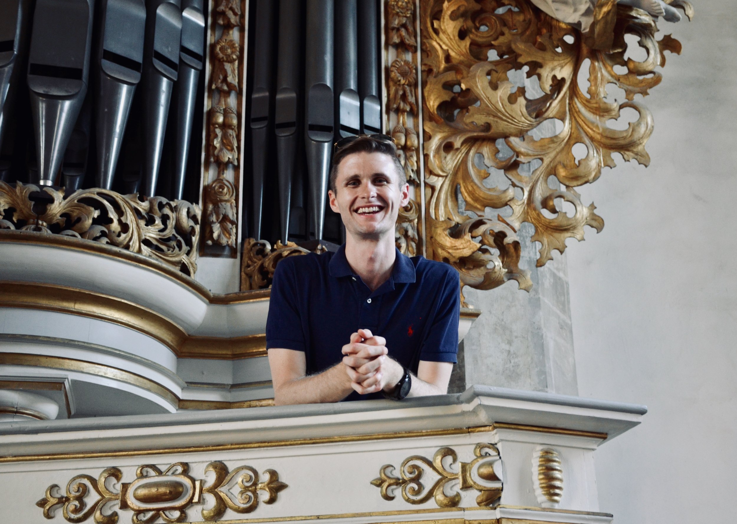 Evan Currie enjoys the 1855 Ladegast Organ, Merseburg Dom.