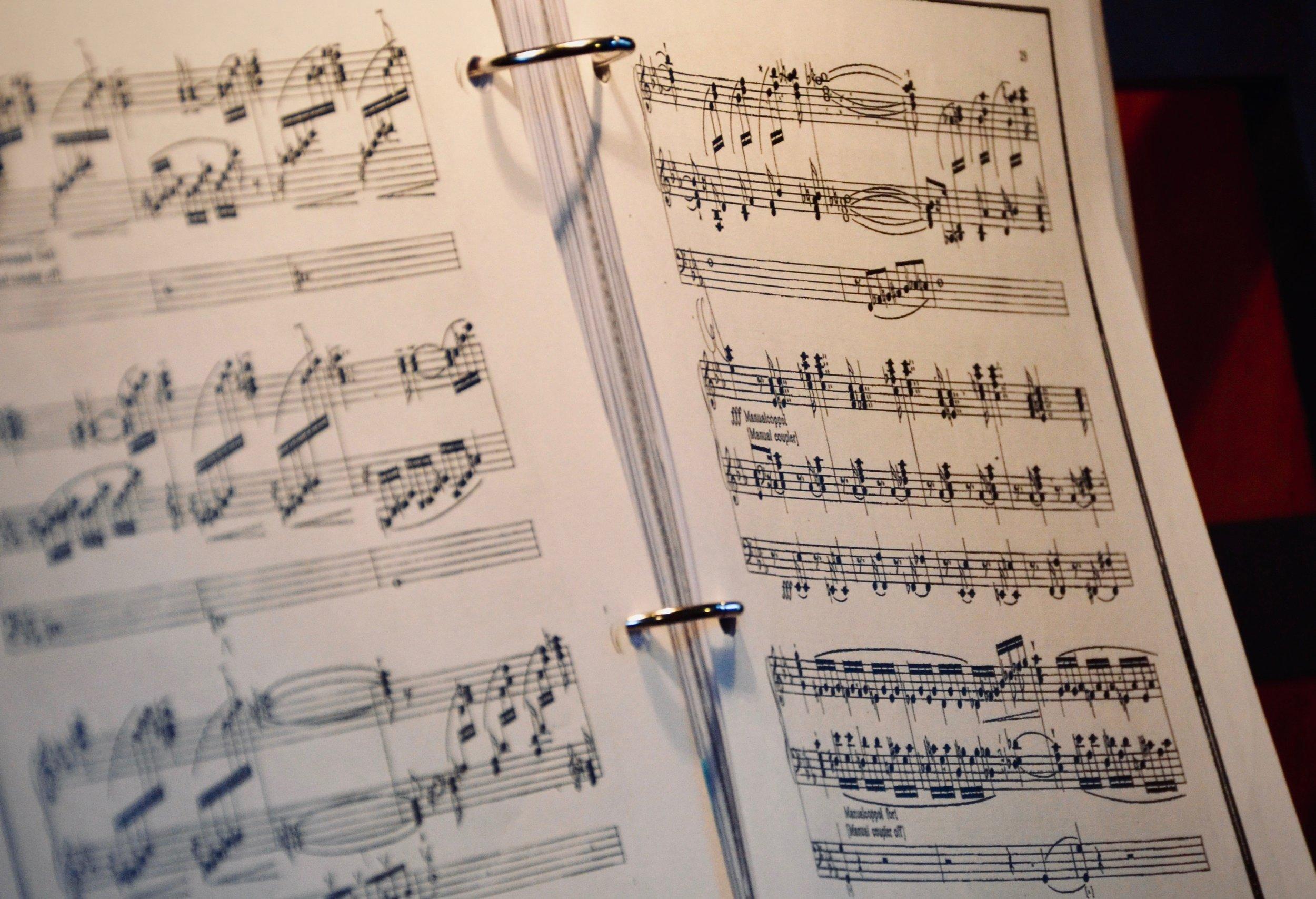 Score of Julius Reubke's Sonata, 1855 Ladegast Organ, Merseburg Dom.