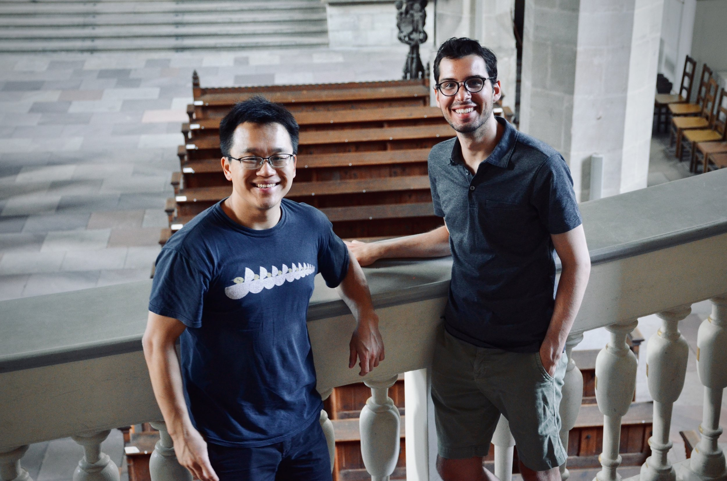 Adrian Cho and Nick Capozzoli enjoy the 1855 Ladegast Organ, Merseburg Dom.