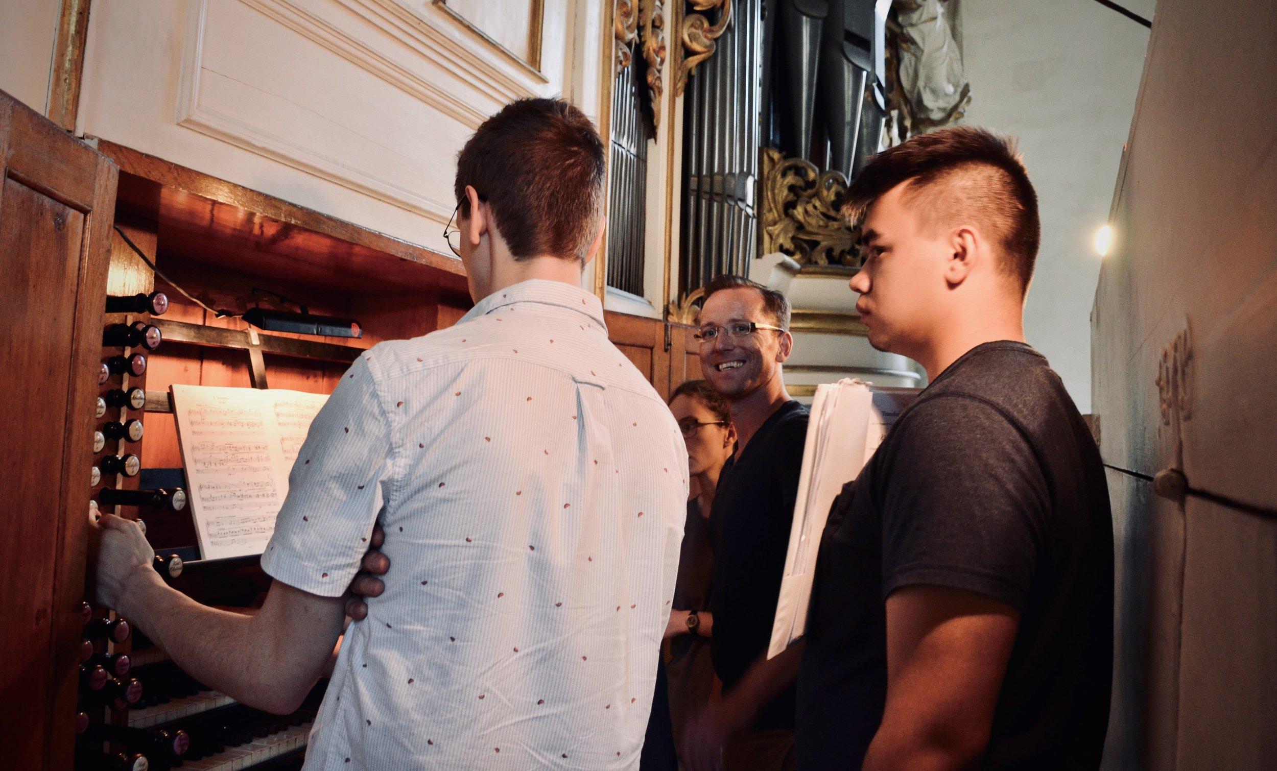 Christian Lane enjoys the 1855 Ladegast Organ, Merseburg Dom.