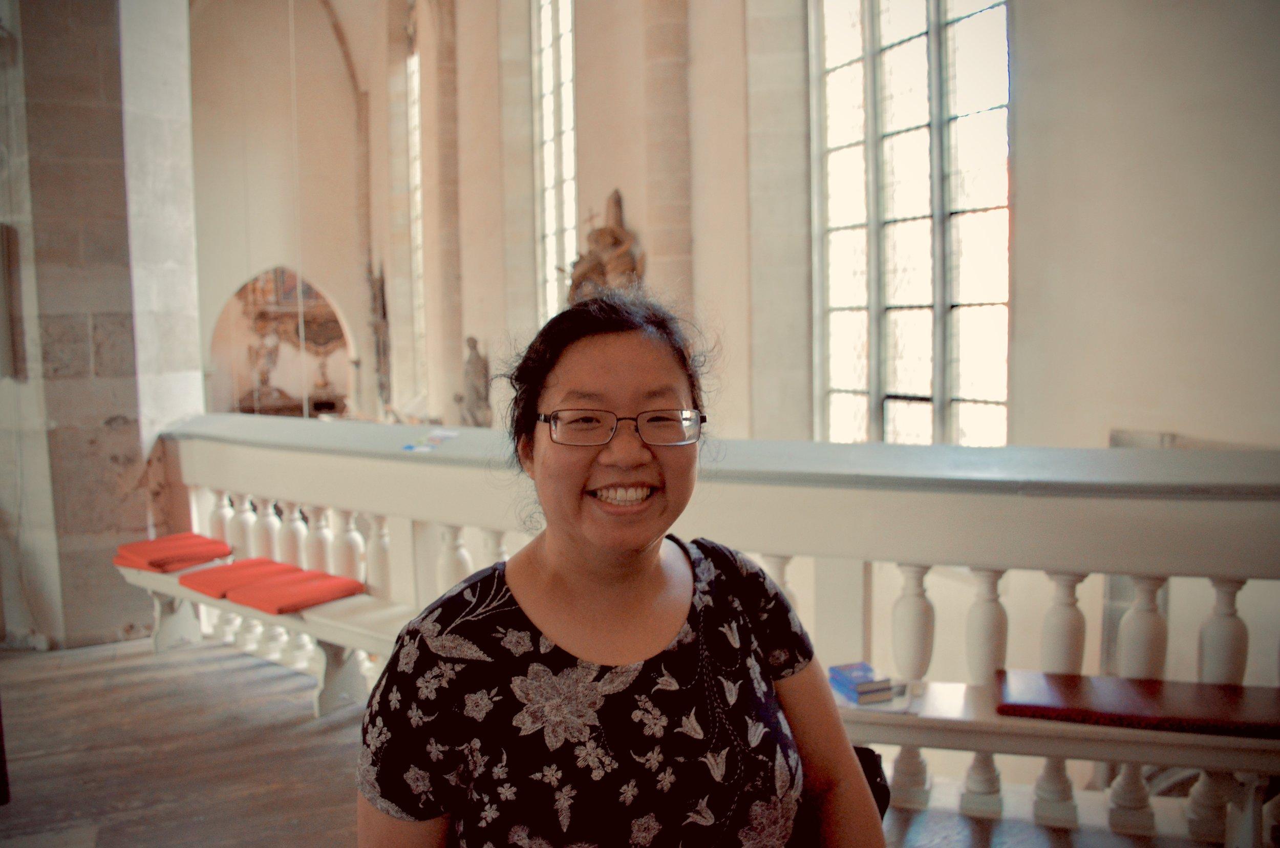 Jennifer Hsiao at Merseburg Dom.