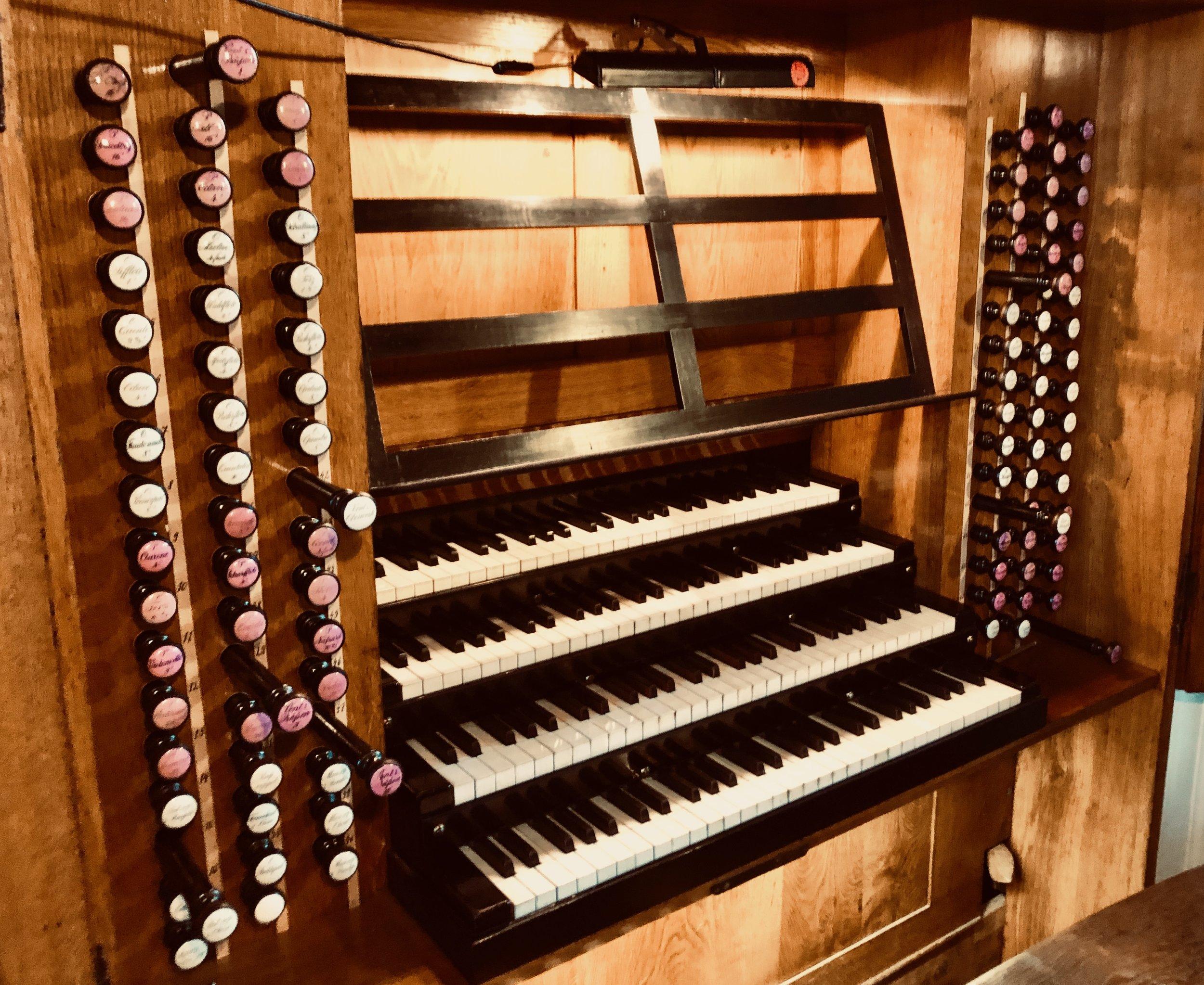 Console, 1855 Ladegast Organ, Merseburg Dom.
