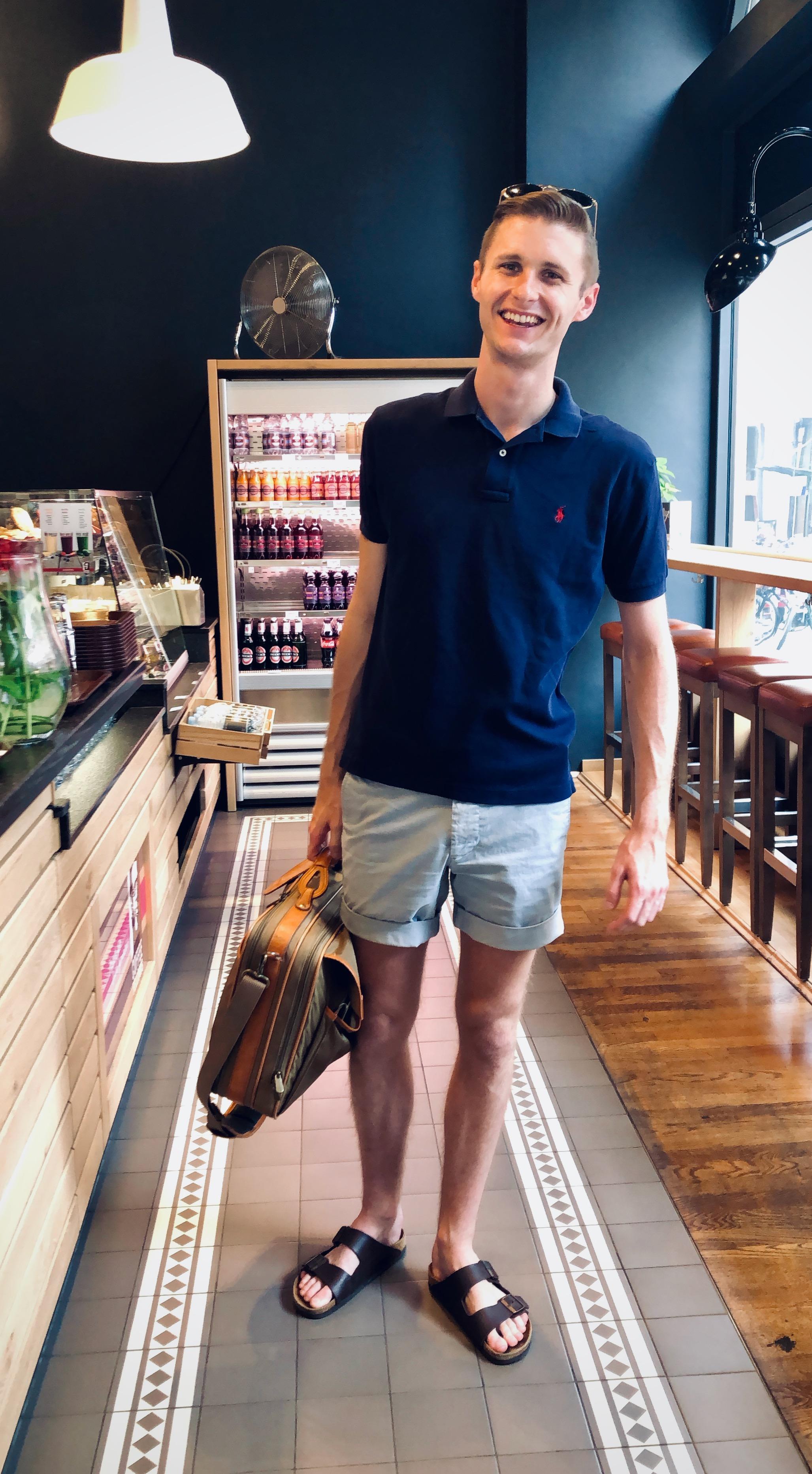 Evan Currie enjoys a bakery in Naumburg, Germany.
