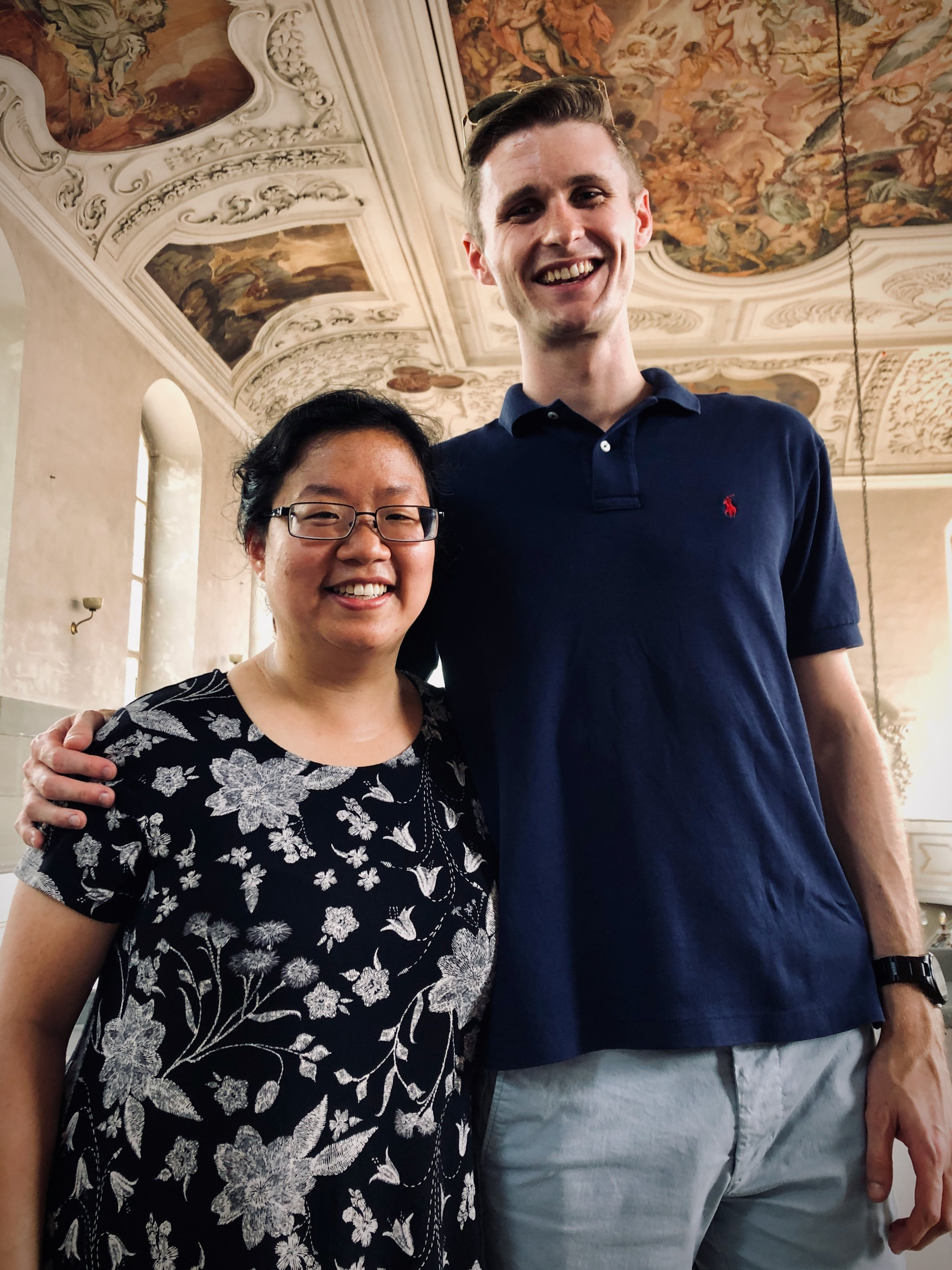 Jennifer Hsiao and Evan Currie at the Marien-Magdalenen-Kirche, Naumburg.