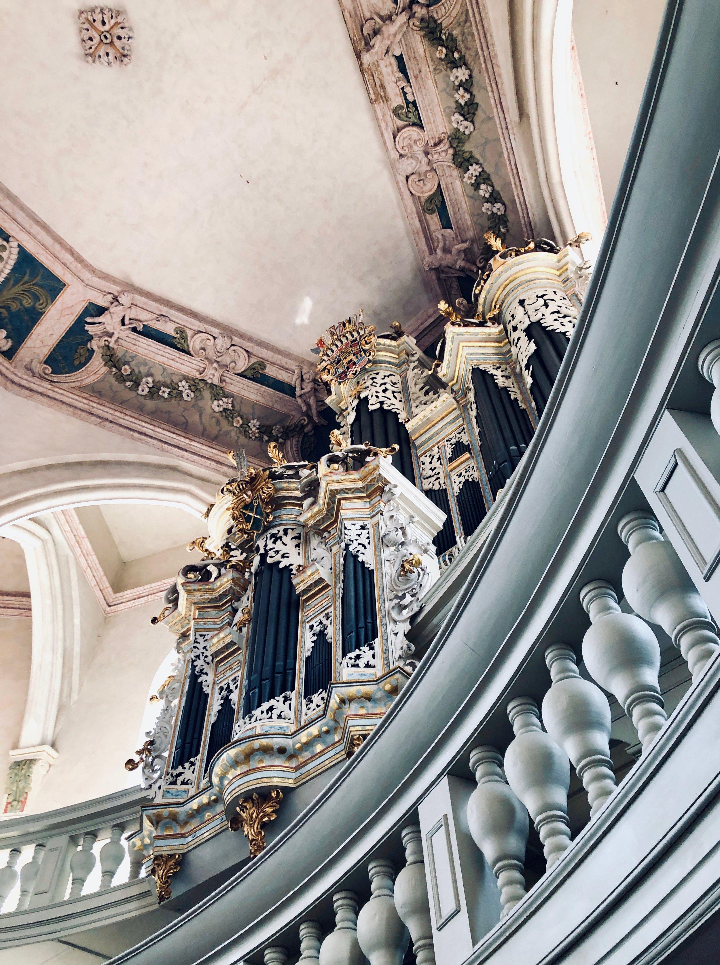 1746 Hildebrandt Organ, Stadtkirche St. Wenzel, Naumburg.