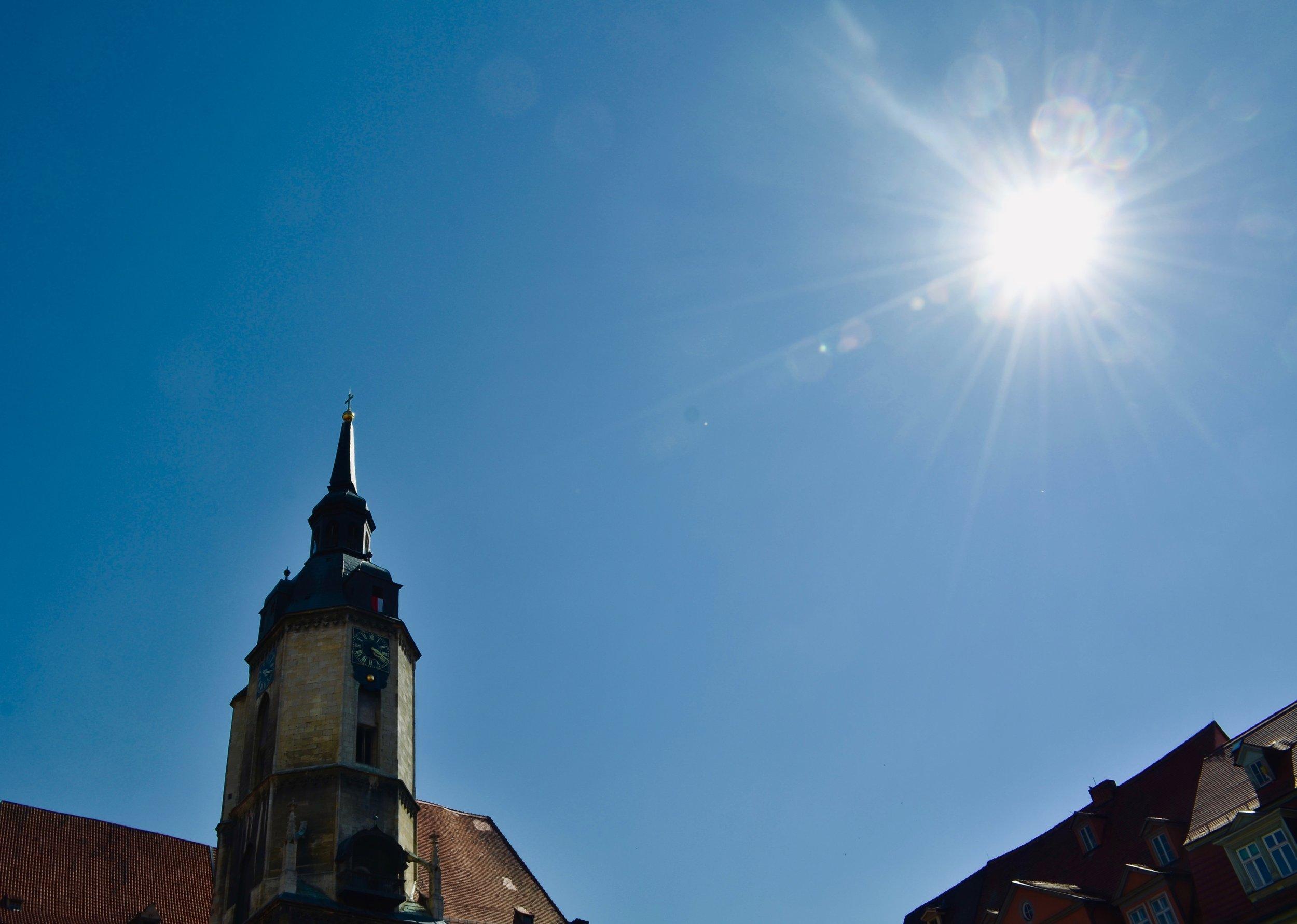 The spire of St. Wenzel, Naumburg.