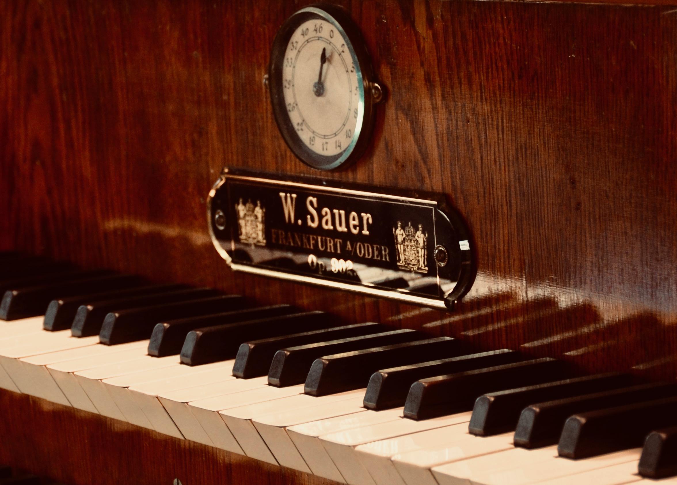 Nameplate, 1904 Sauer Organ, Michaeliskirche, Leipzig