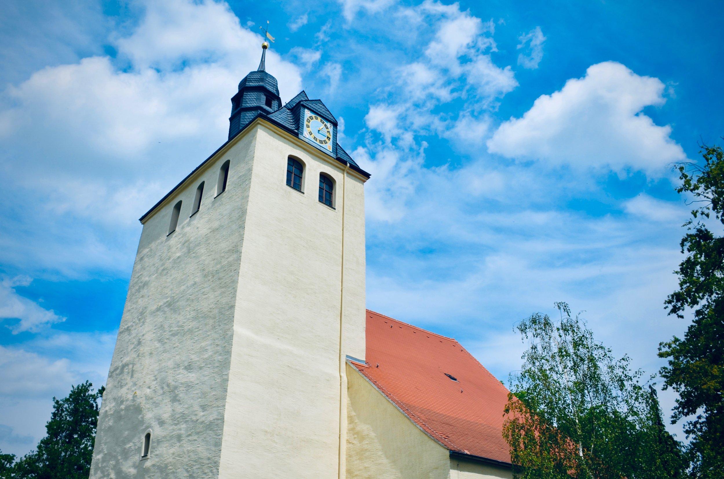 The Wehrkirche in Pomßen, Germany.