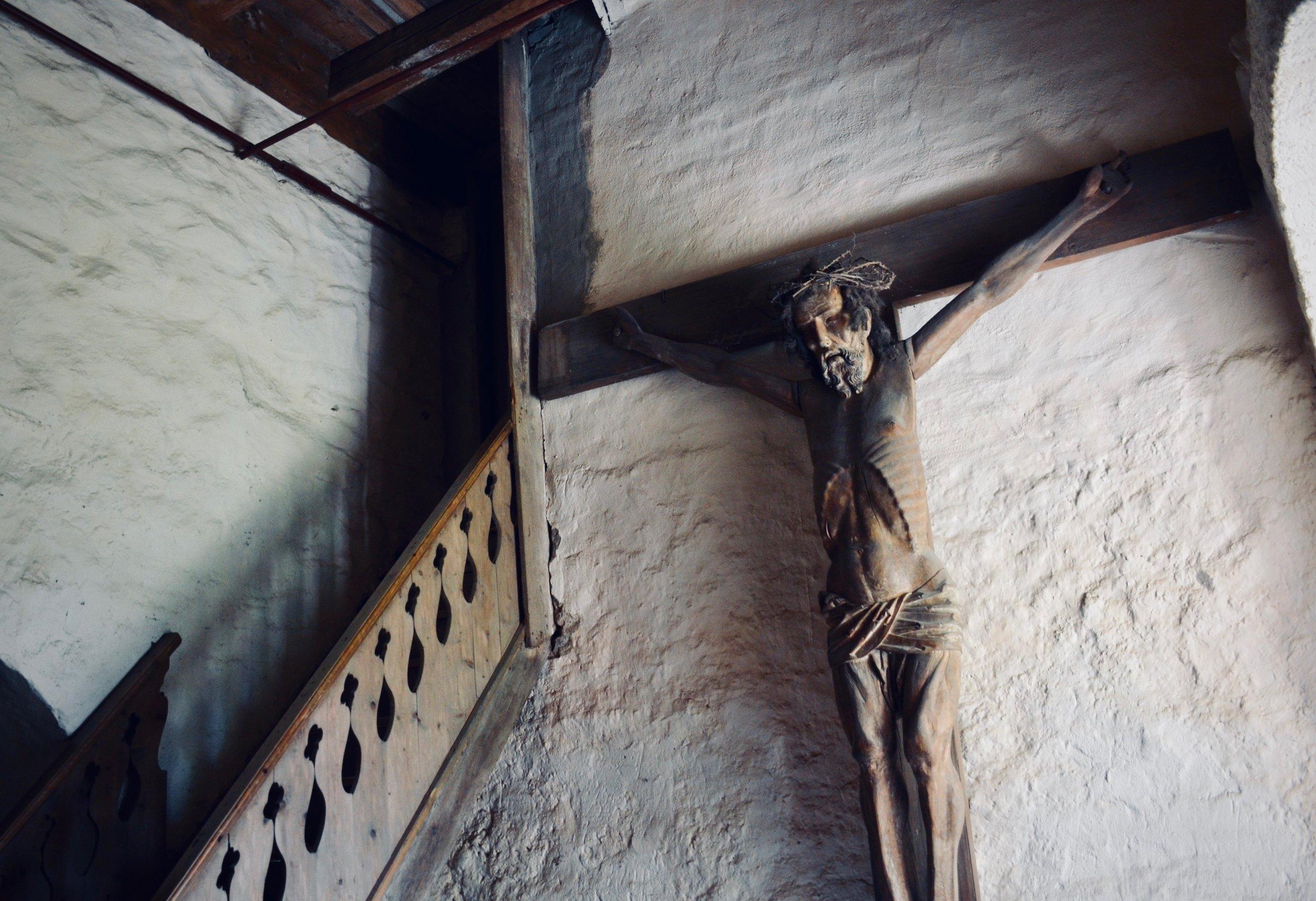 A 13th-century crucifix, Wehrkirche, Pomßen