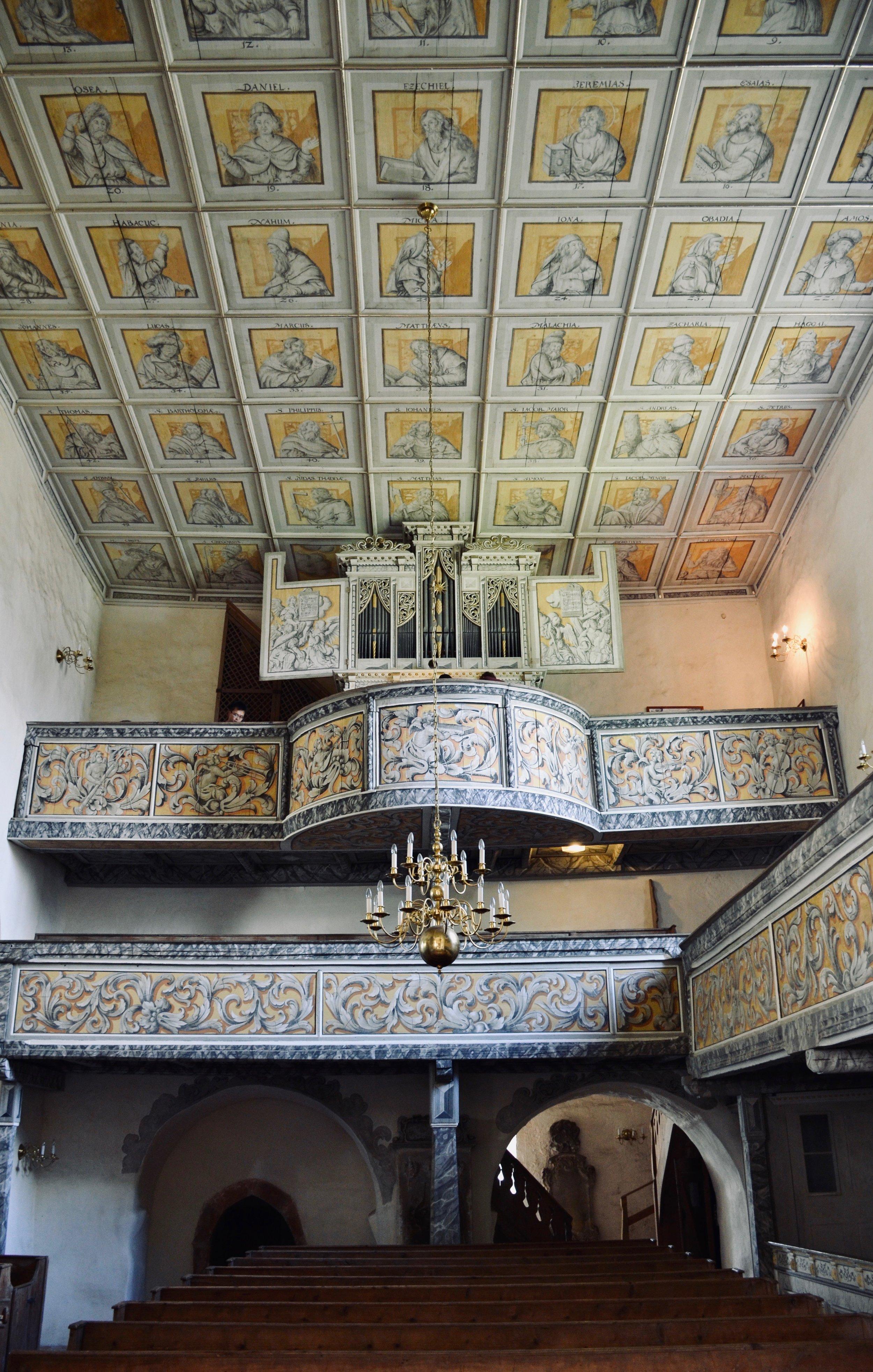 1671 Richter Organ, Wehrkirche, Pomßen