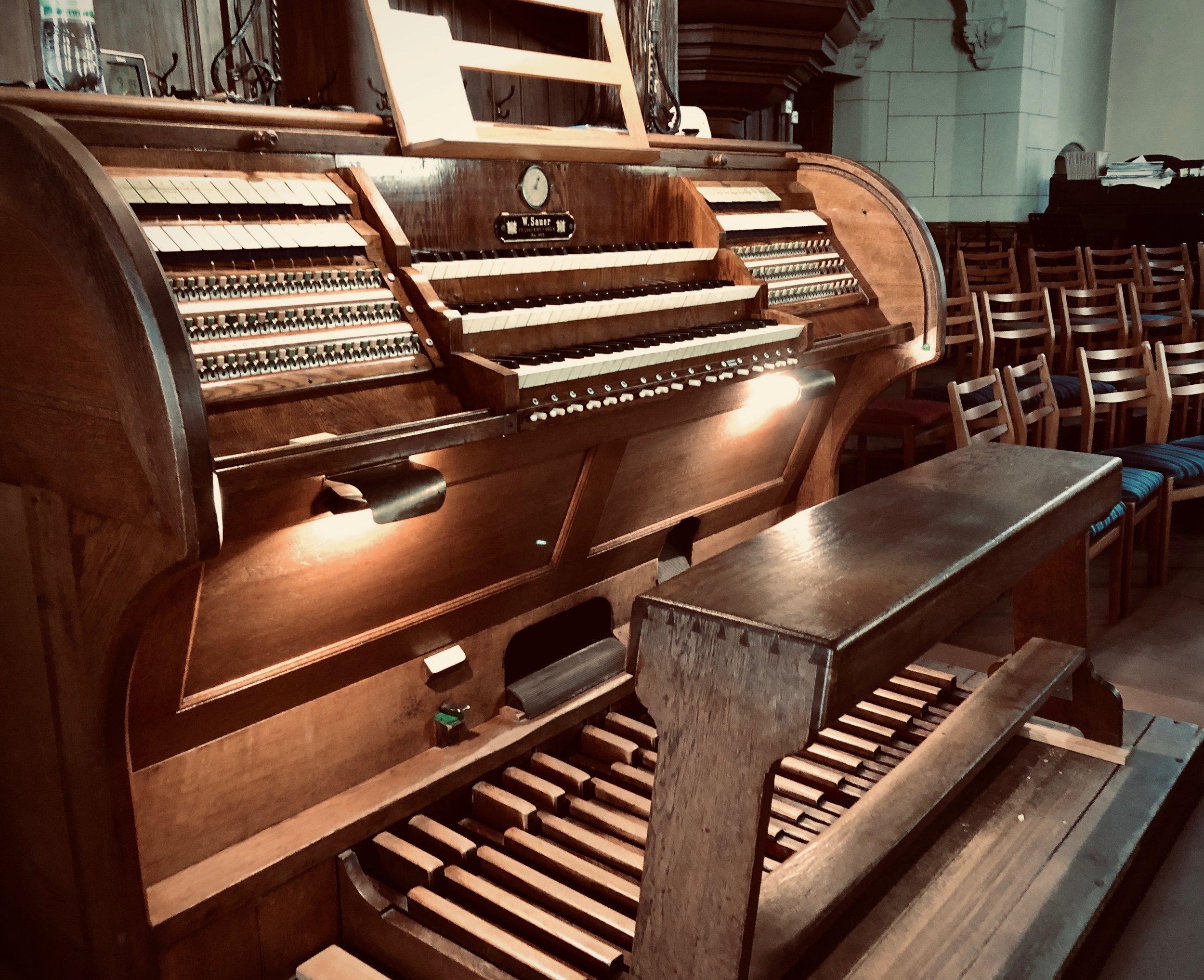 Console, 1904 Sauer Organ, Michaeliskirche, Leipzig