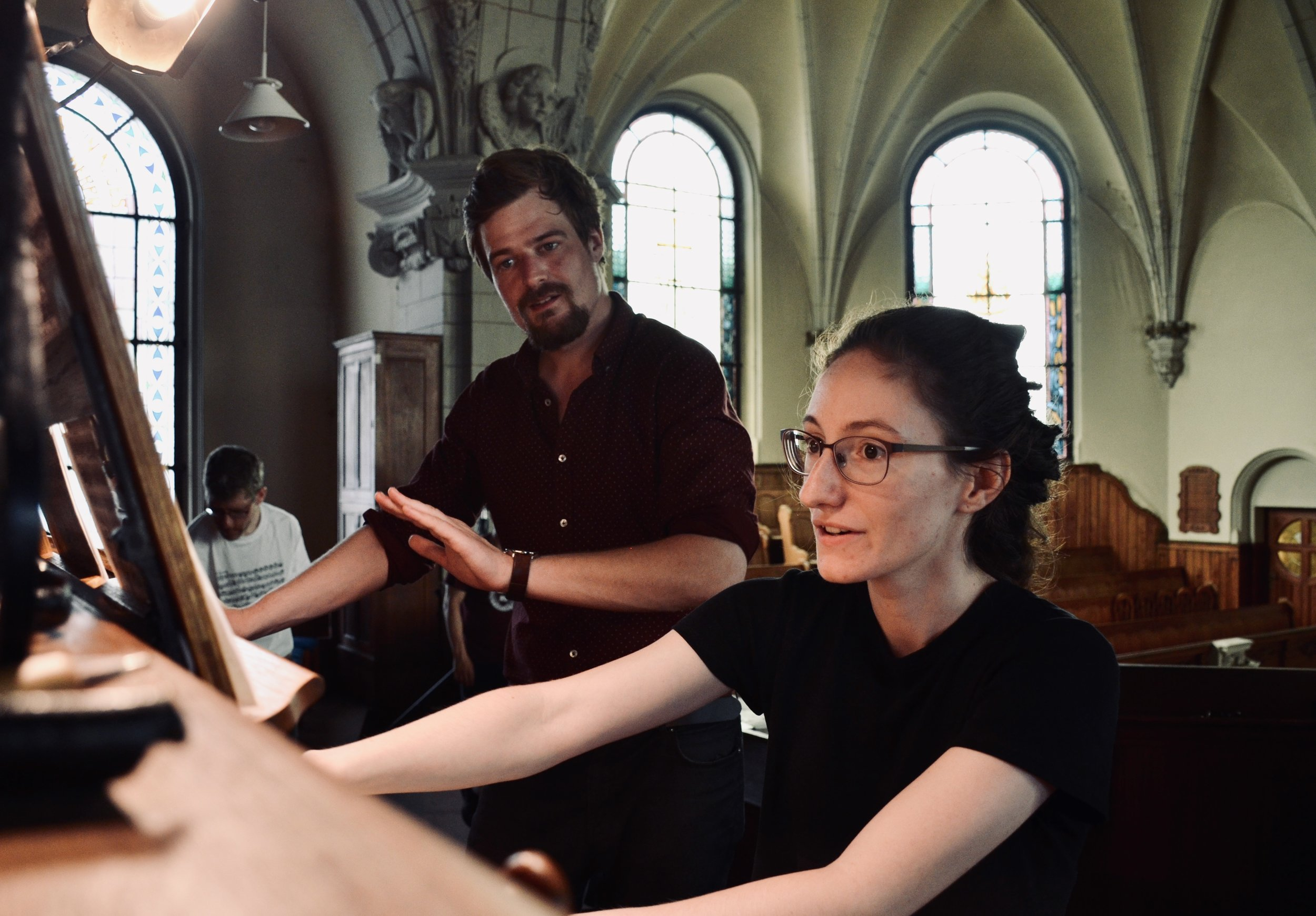 Rosemarie Tougas, with Martin Sturm, in Leipzig.