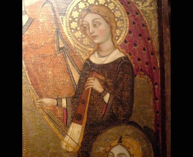 Maître du feuillage en broderie, La Vierge et l'Enfant entourés d'anges, vers 1500