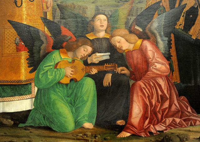 Madone à l'enfant avec Saints, Girolamo dai Libri, 1520