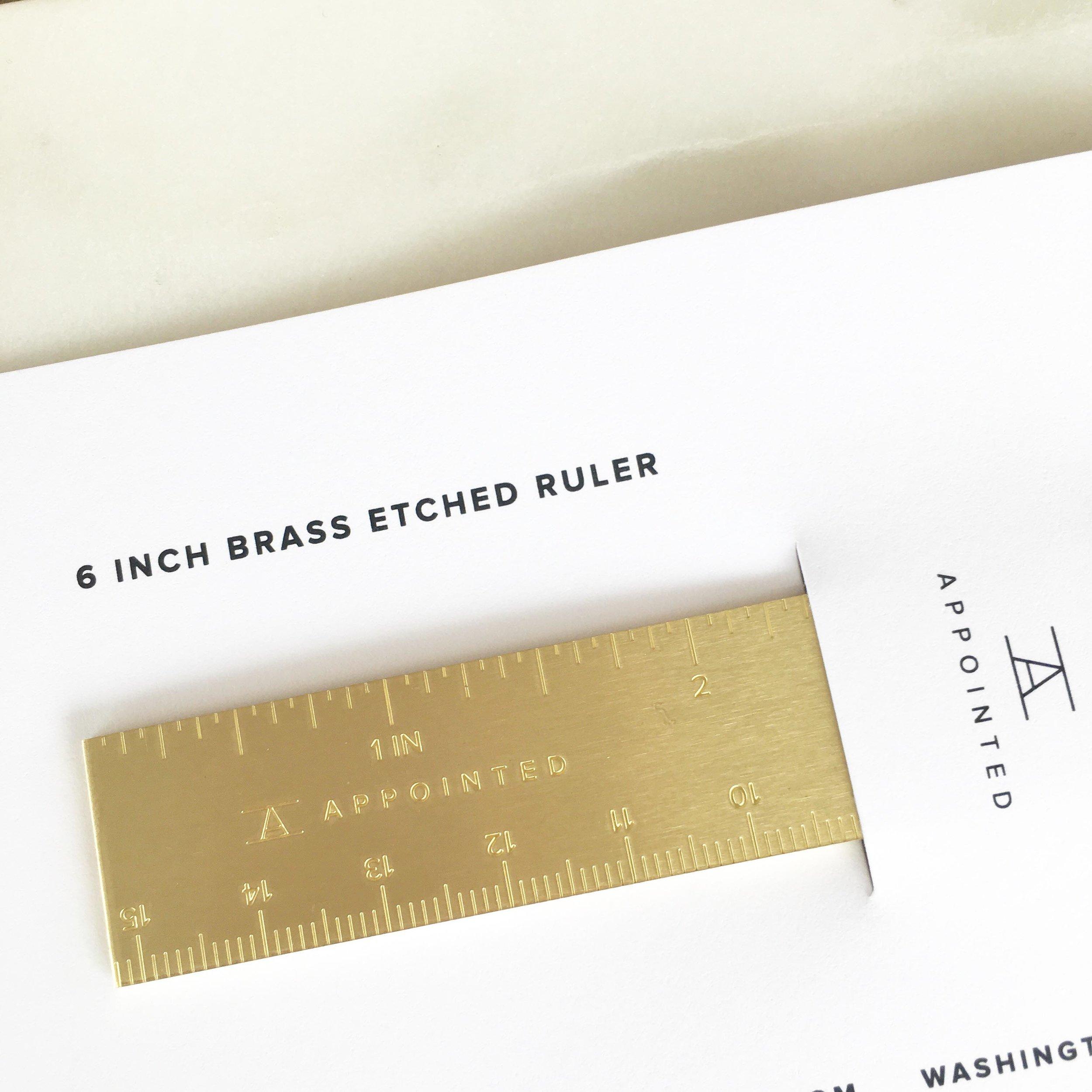 Brass Ruler