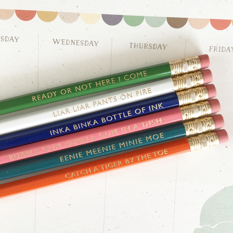 Sidewalk Games Pencil Set