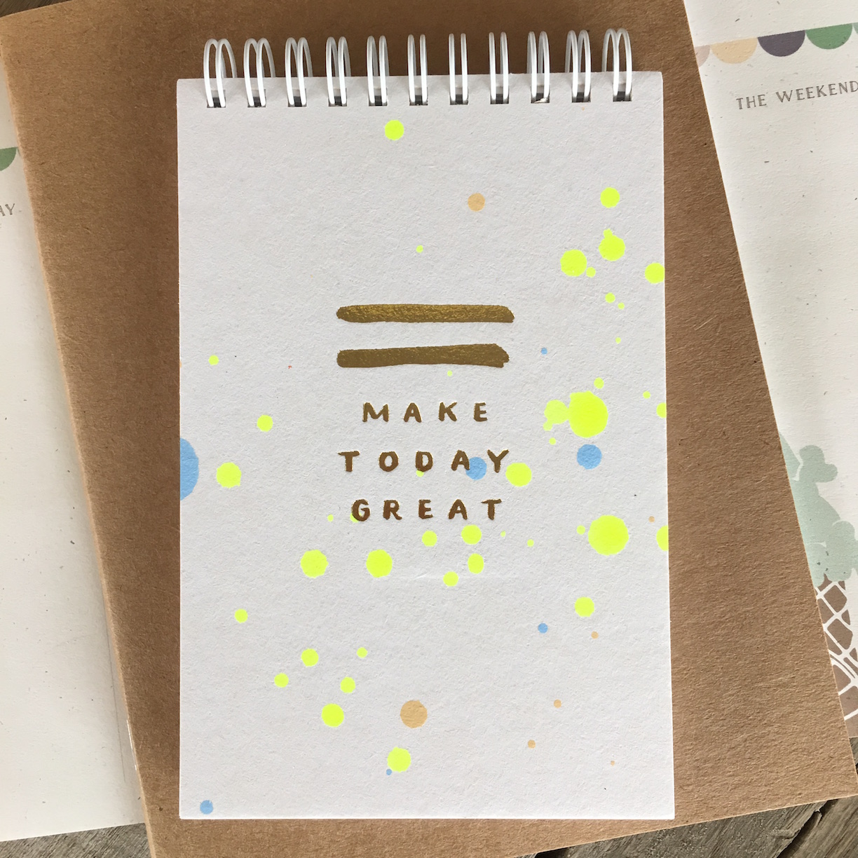 Make Today Great Neon Daily Jotter