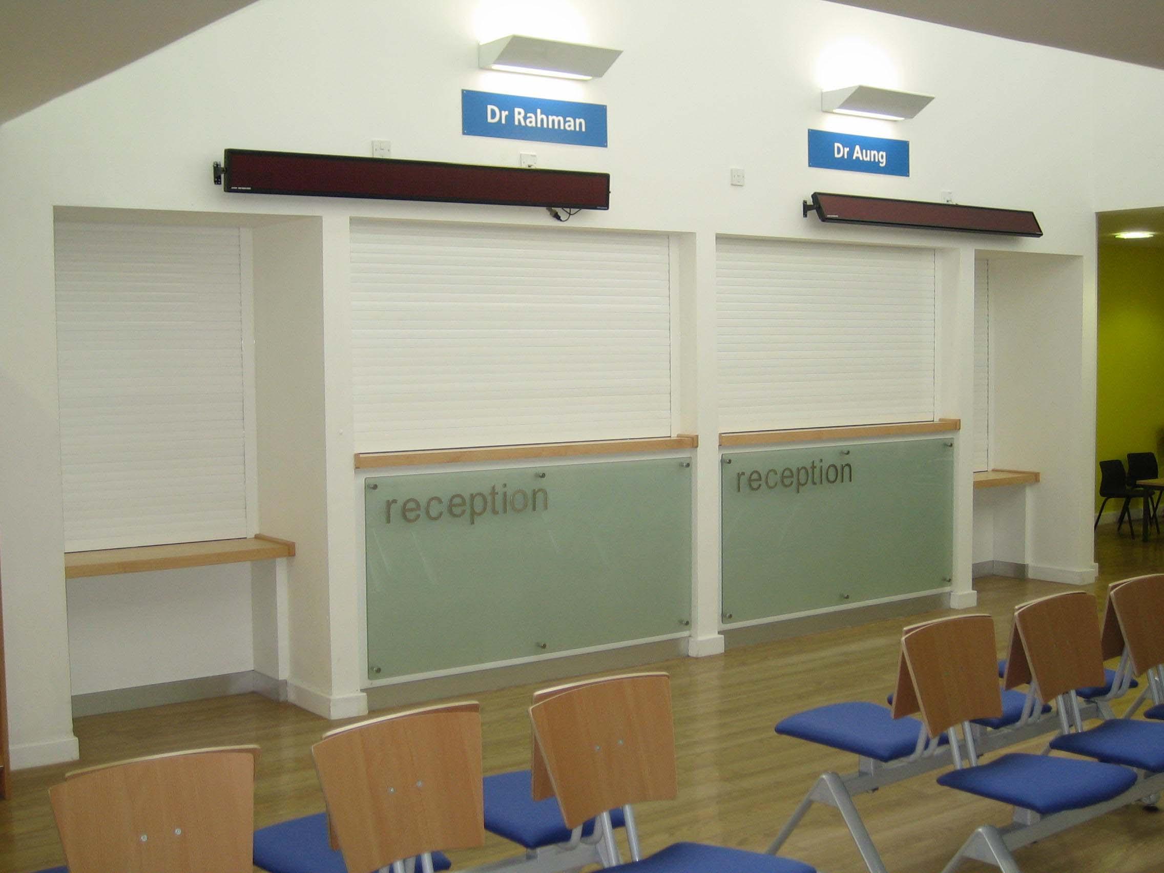 Reception shutters