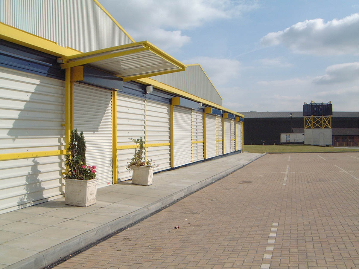 Commercial shutters.