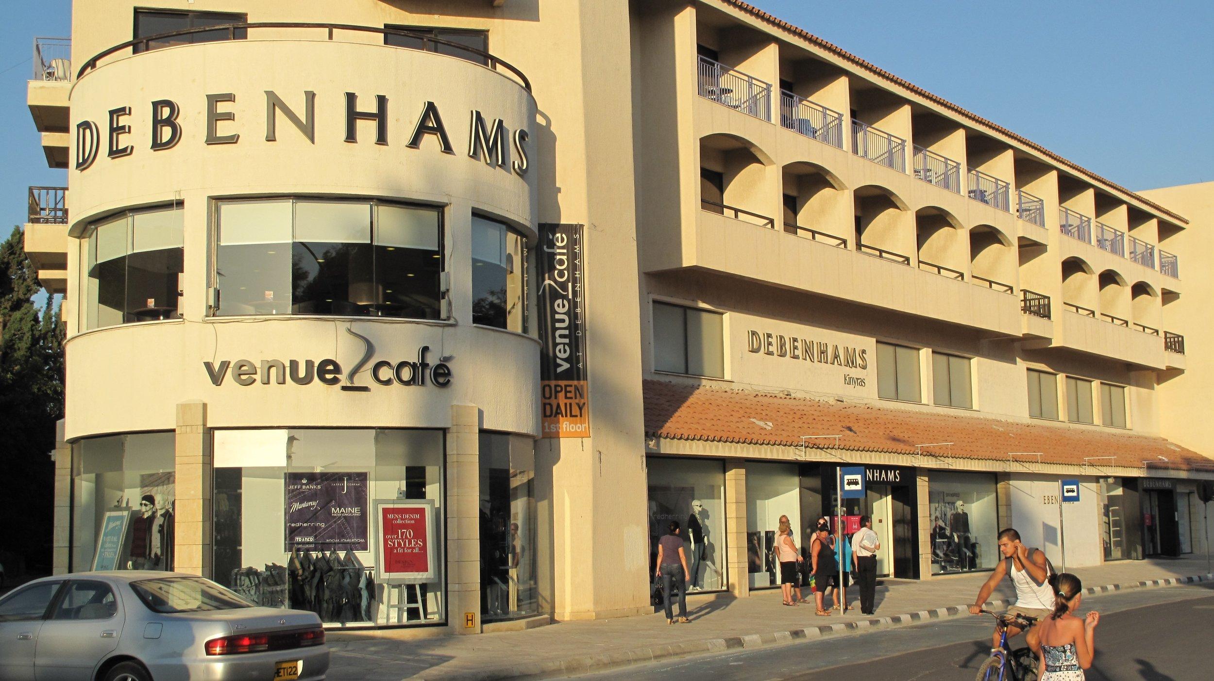 Debenhams, Paphos, Cyprus. -