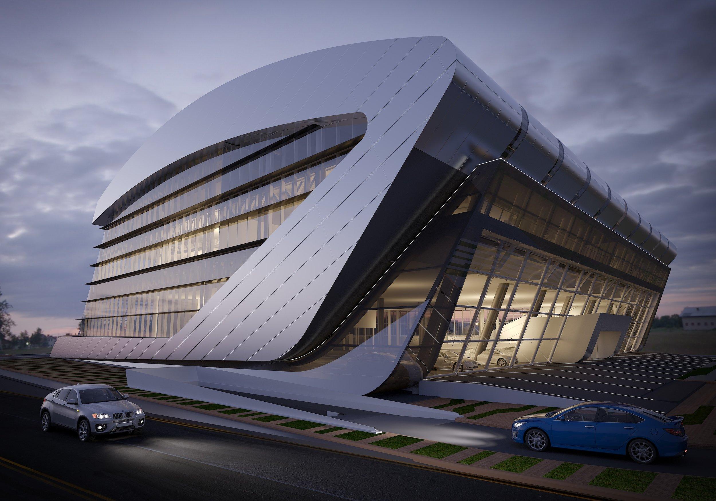 Lexus Showroom Doha. -
