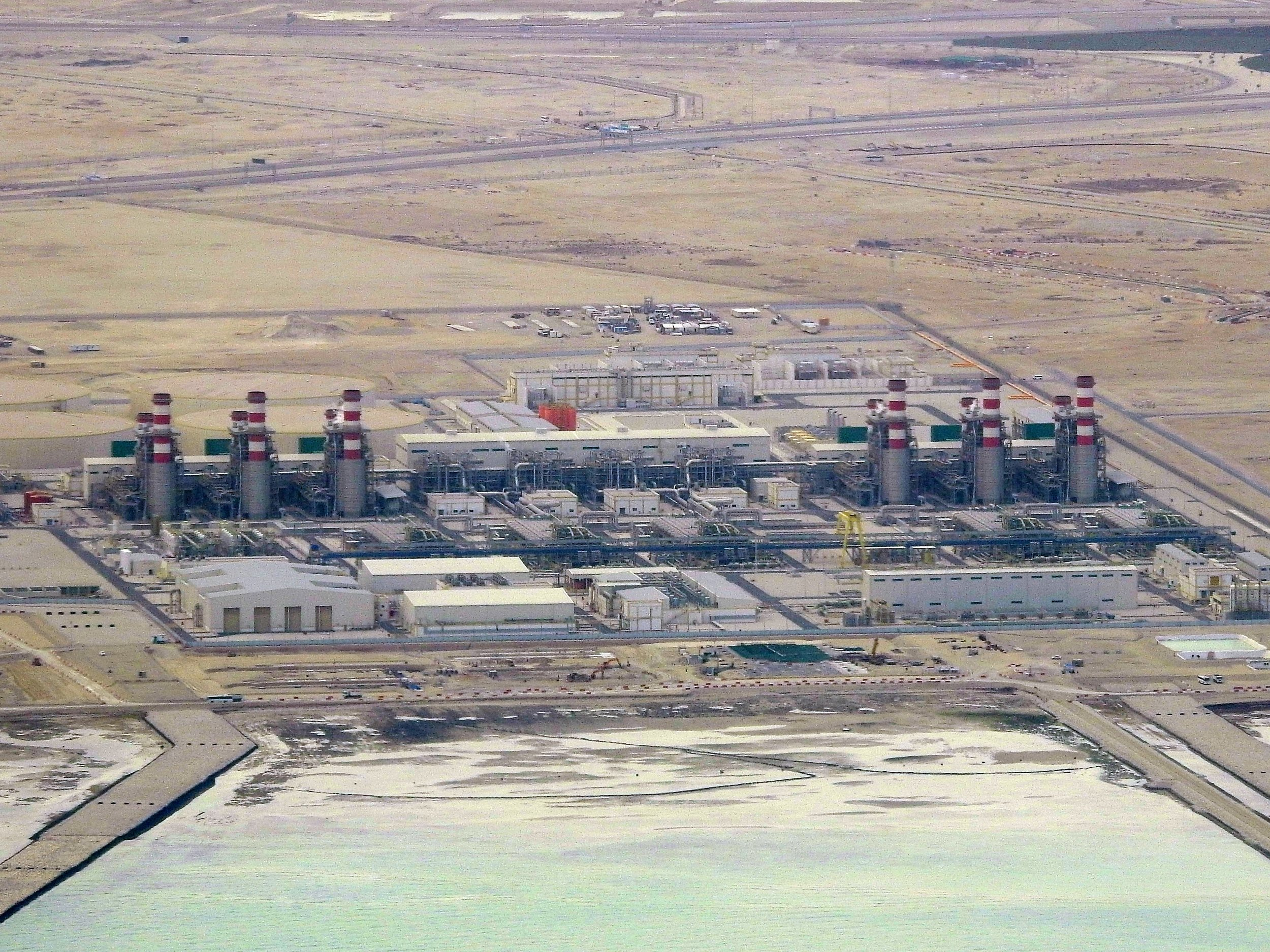 Um Al Houl Independent Water and Power Plant, Doha. -