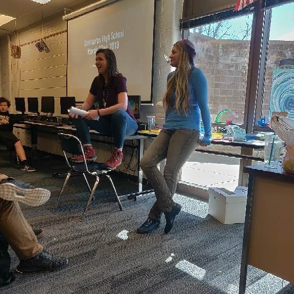 Two weeks ago we were lucky enough to be invited to speak with the Intro to Engineering Design students at Centaurus High School near where Mikayla lives. We had a great time learning what the students are working on in the class and sharing our story with them!