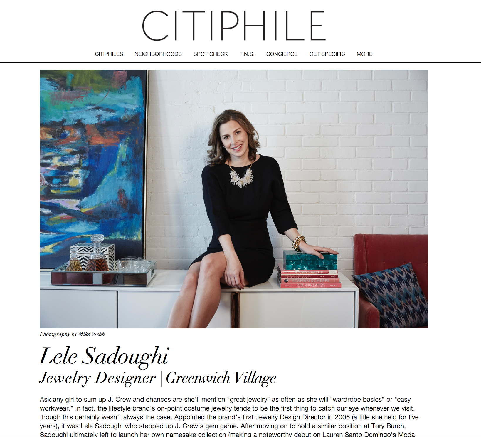Press: The Citiphile   Featuring: Lele Sadoughi